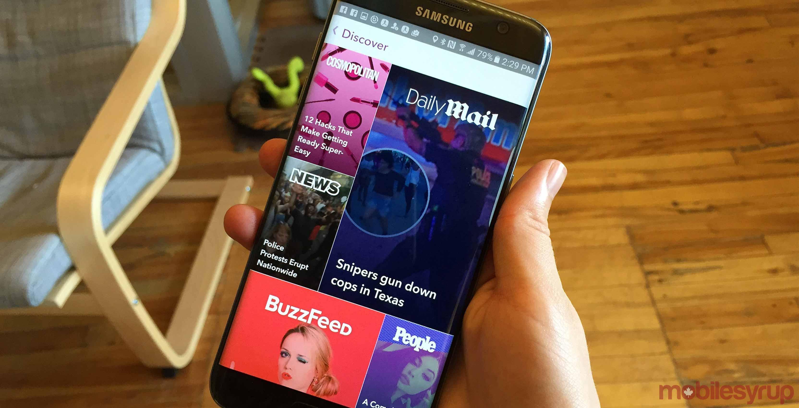 Snap snapchat app on phone