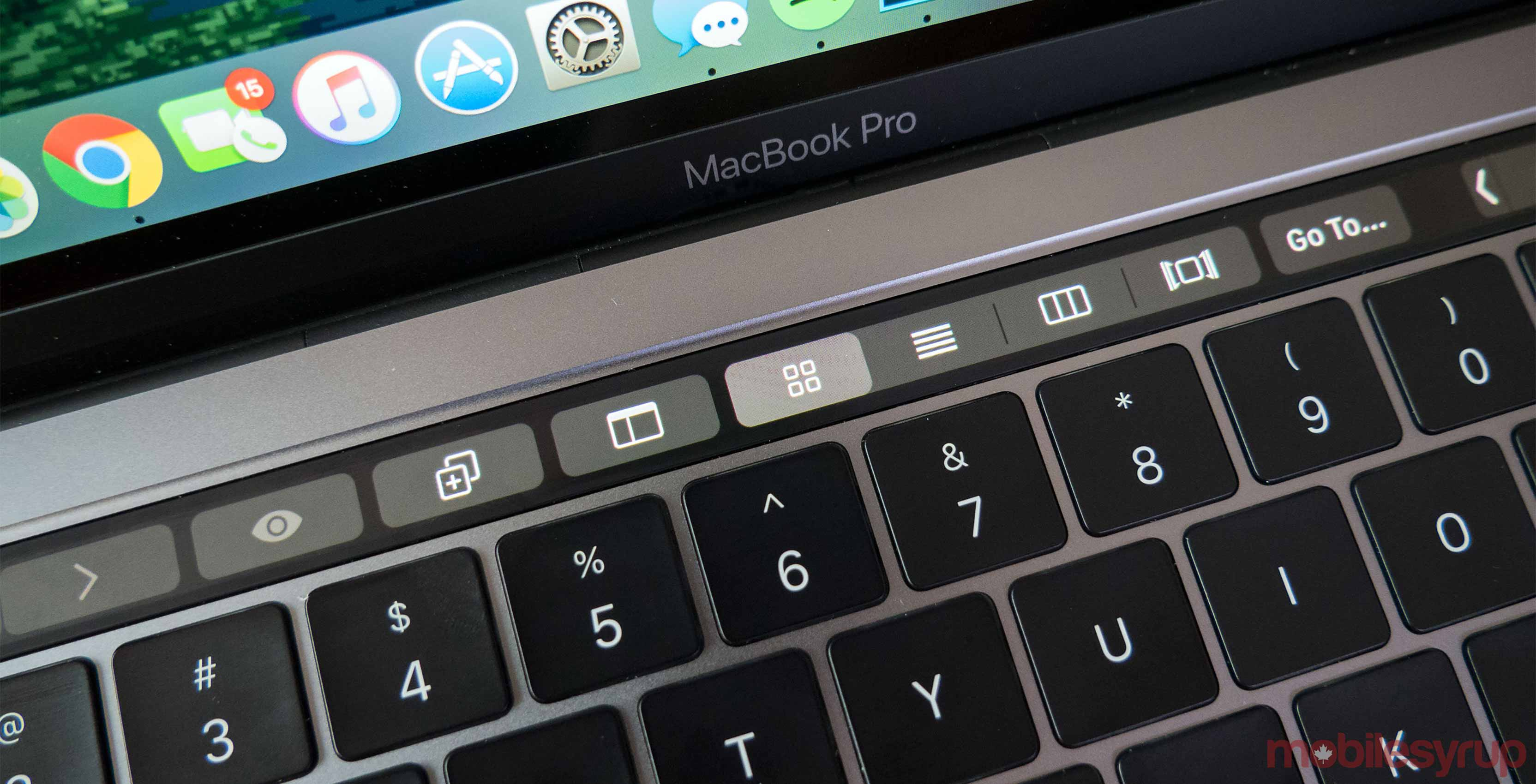 2016 MacBook Pro Touch Bar.