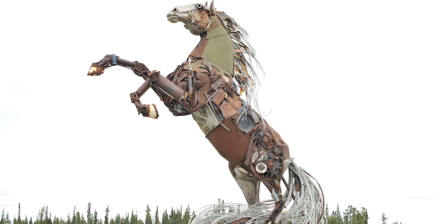 Horse sculpture in Whitehorse, Yukon - TNW Wireless