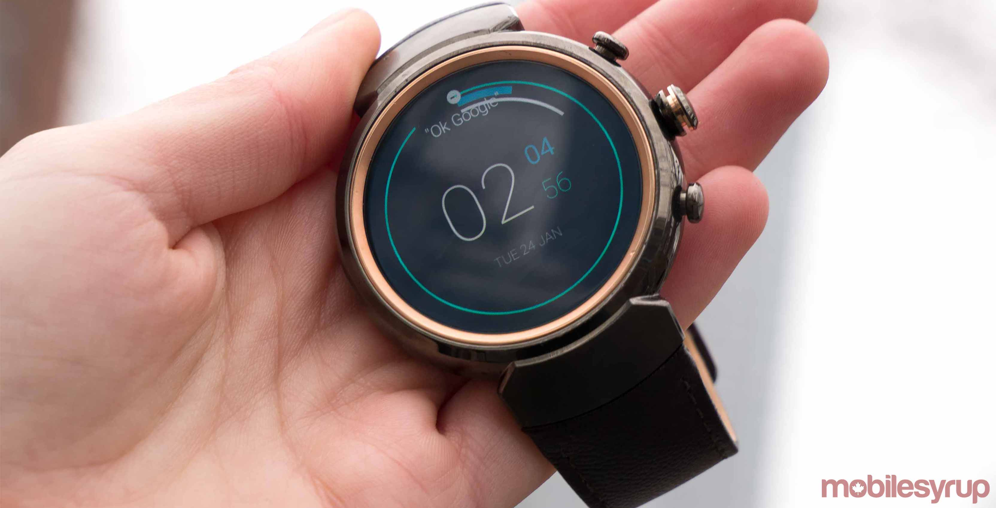 ZenWatch 3 running Android Wear 2.0