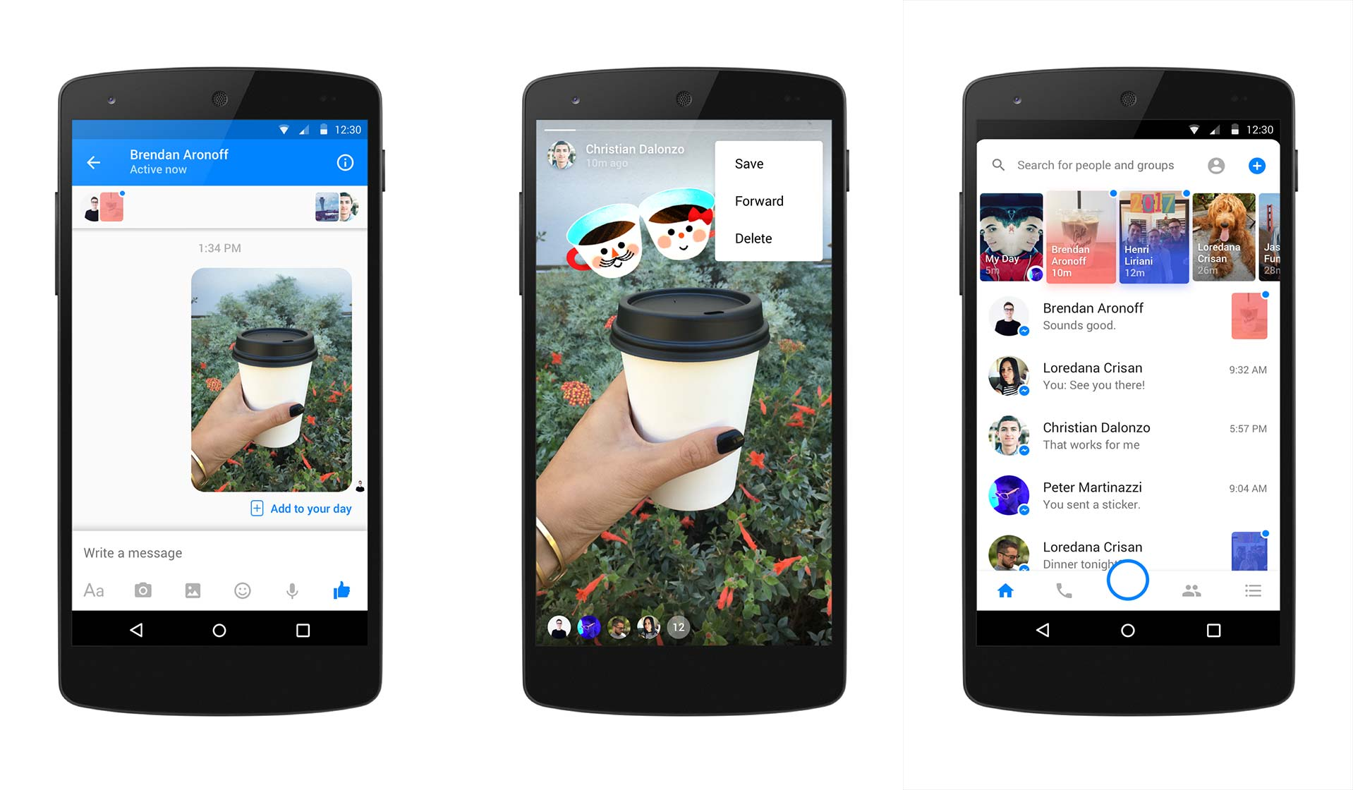 Messenger Day on Android