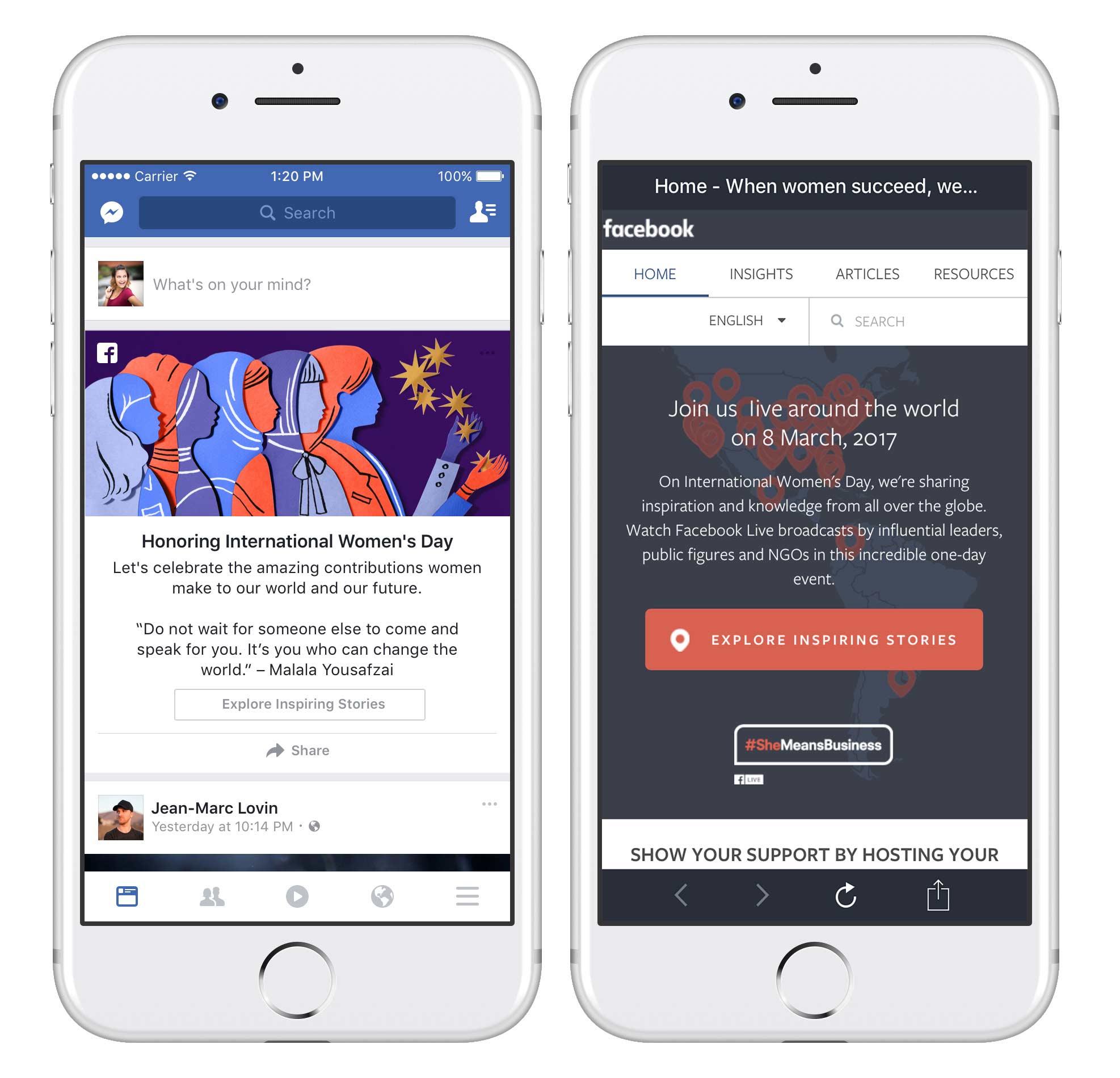 Facebook Screenshots