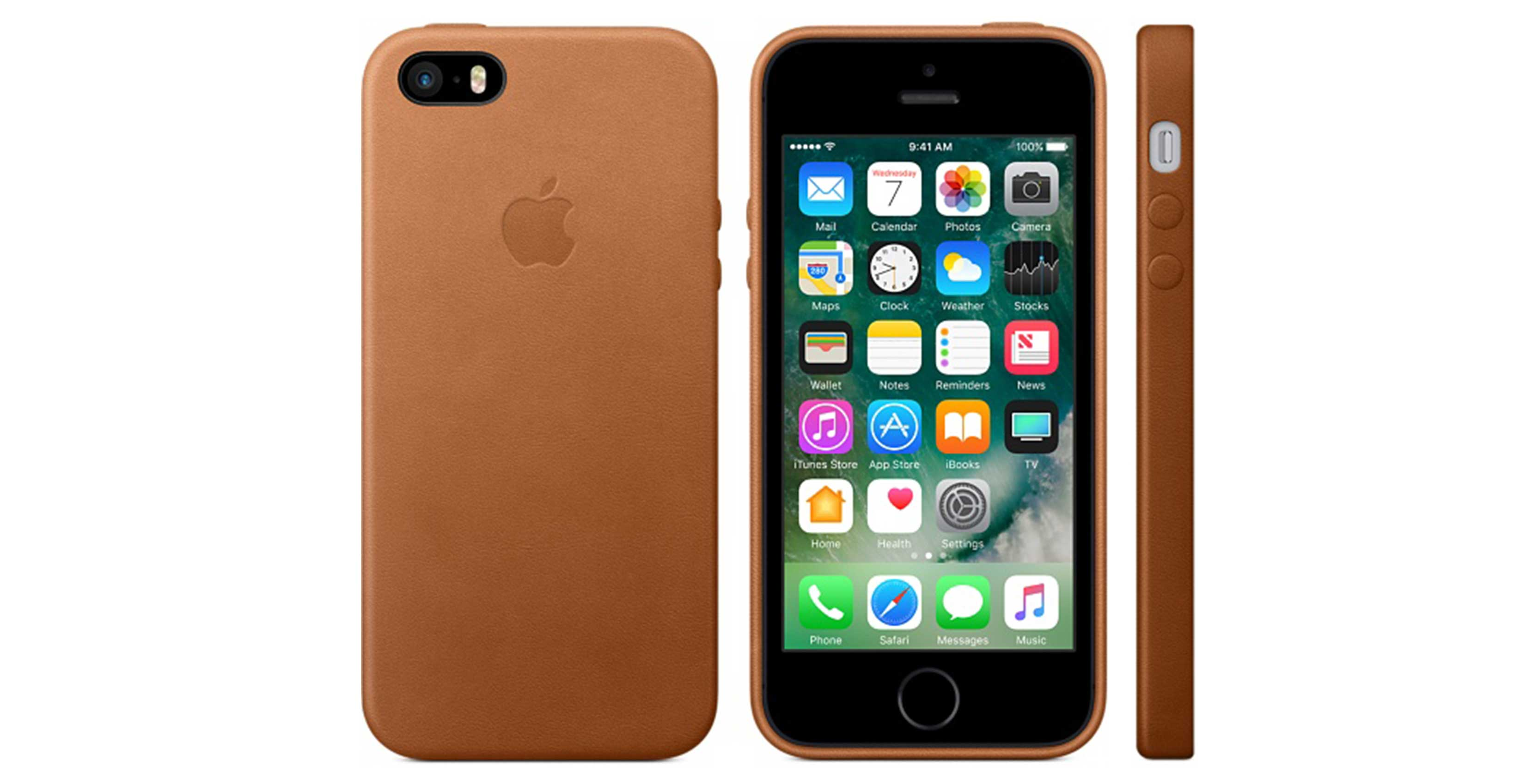 apple iphone case in saddle brown