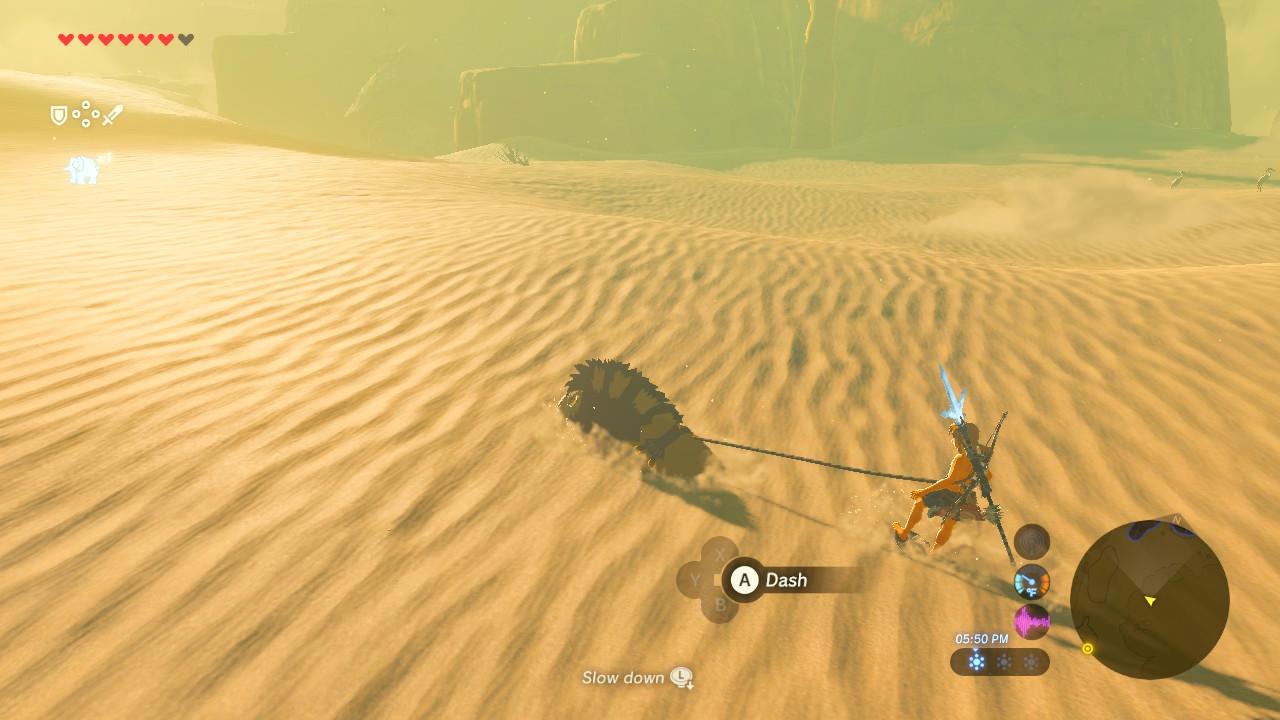 Desert skiing screenshot