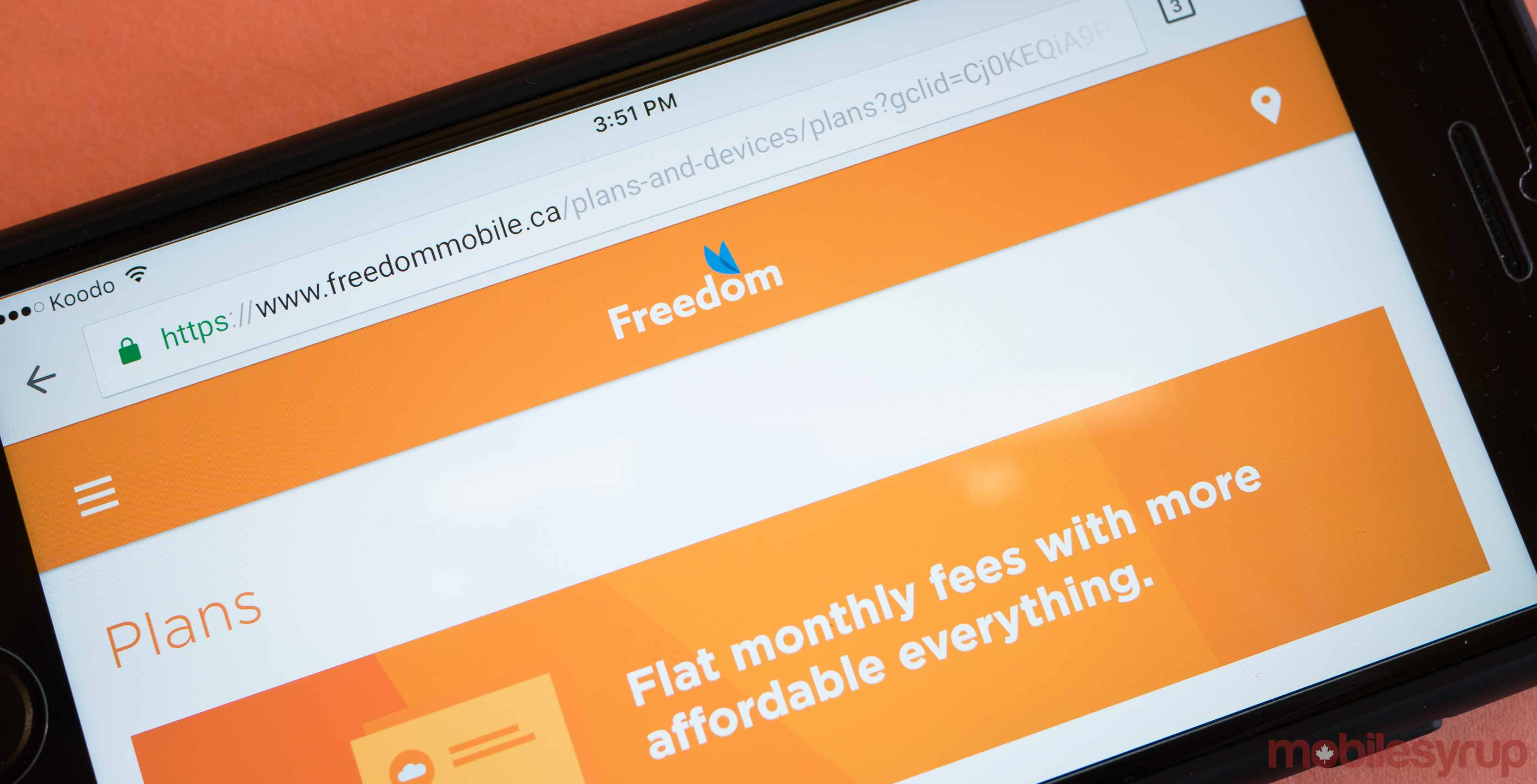 Freedom Mobile lte network