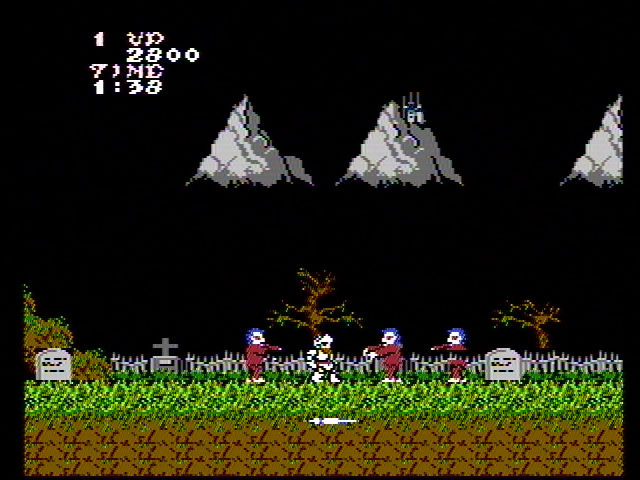 capcom Ghosts and Goblins NES Screenshot