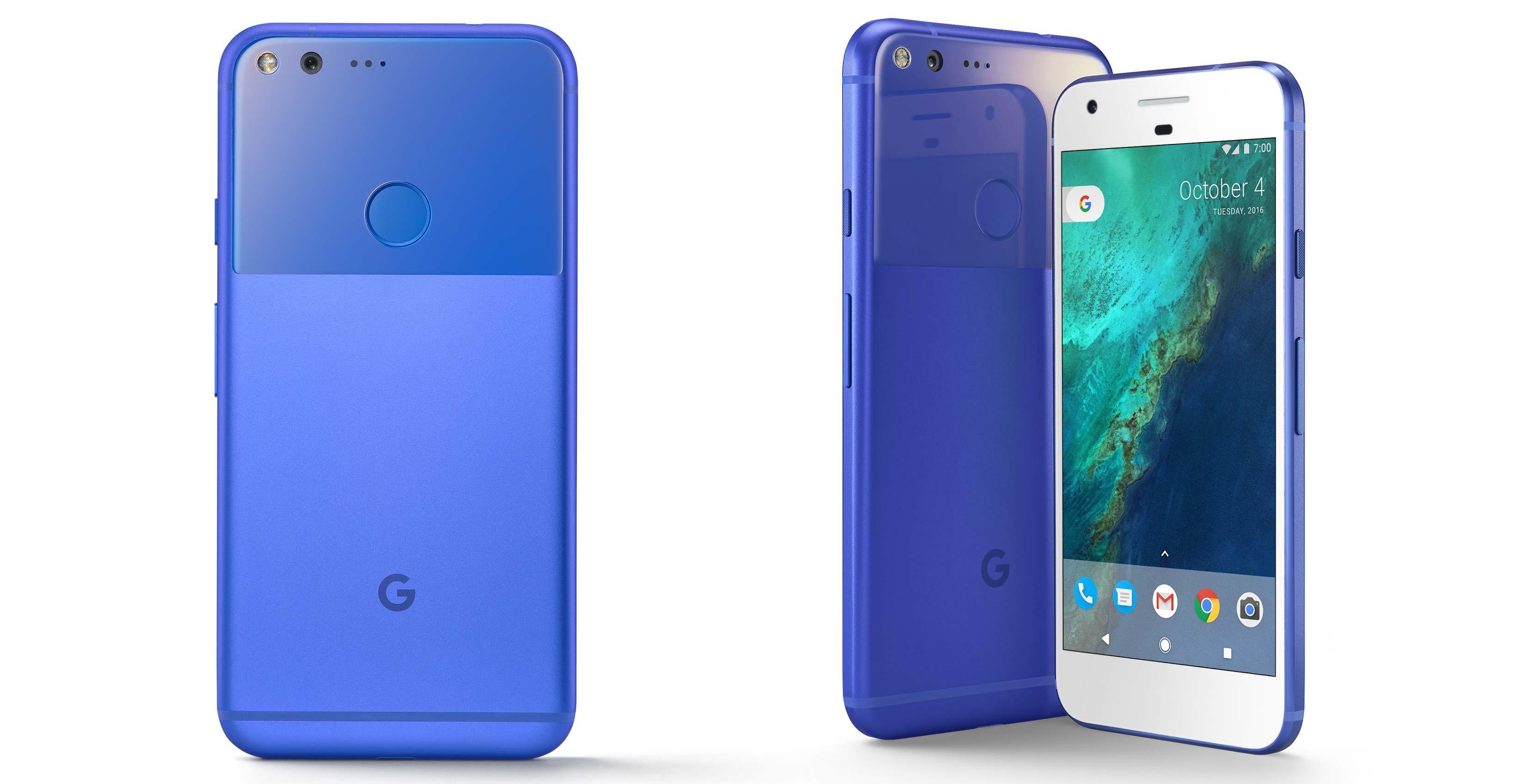 Really Blue Google Pixel rogers