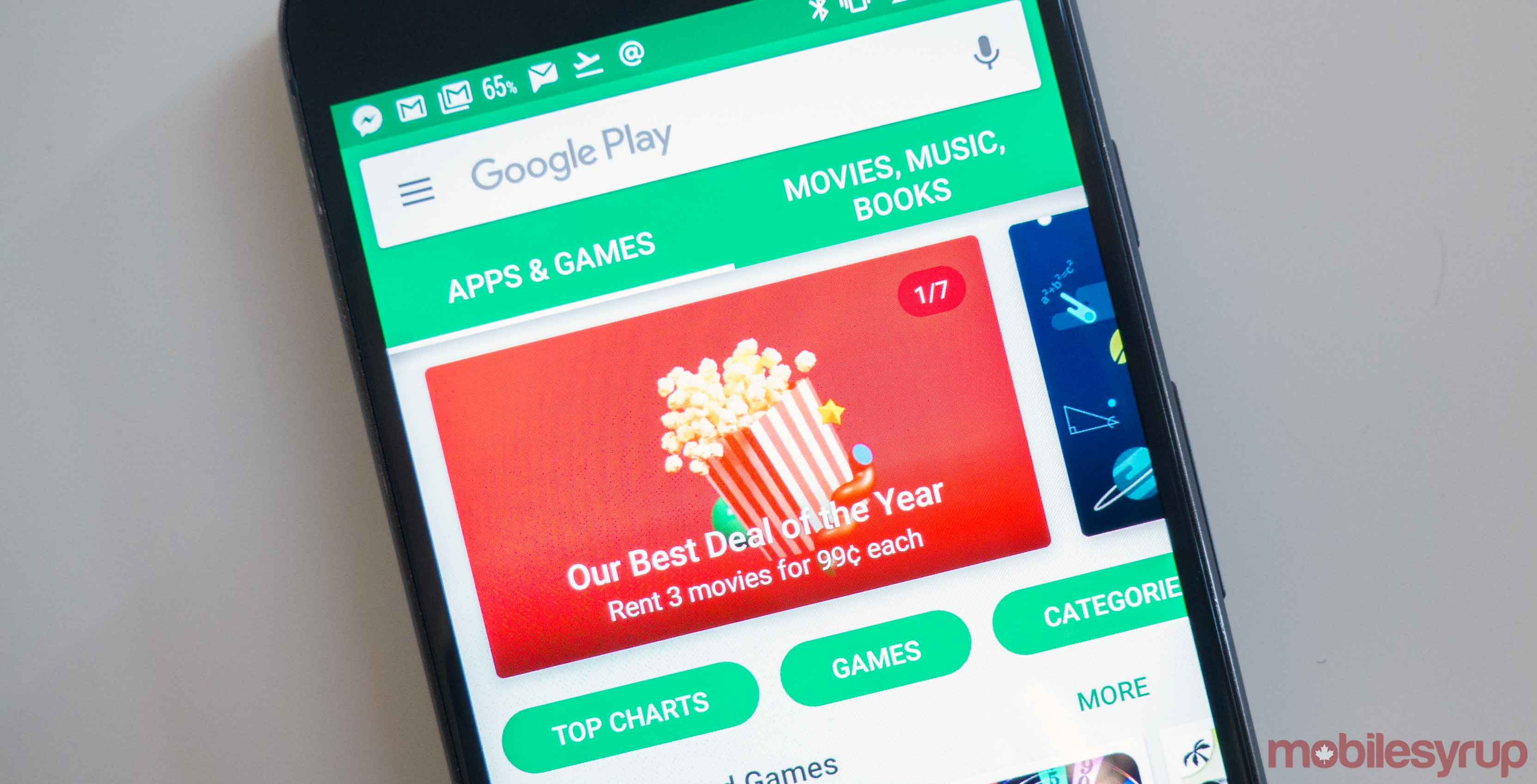 google play store on phone