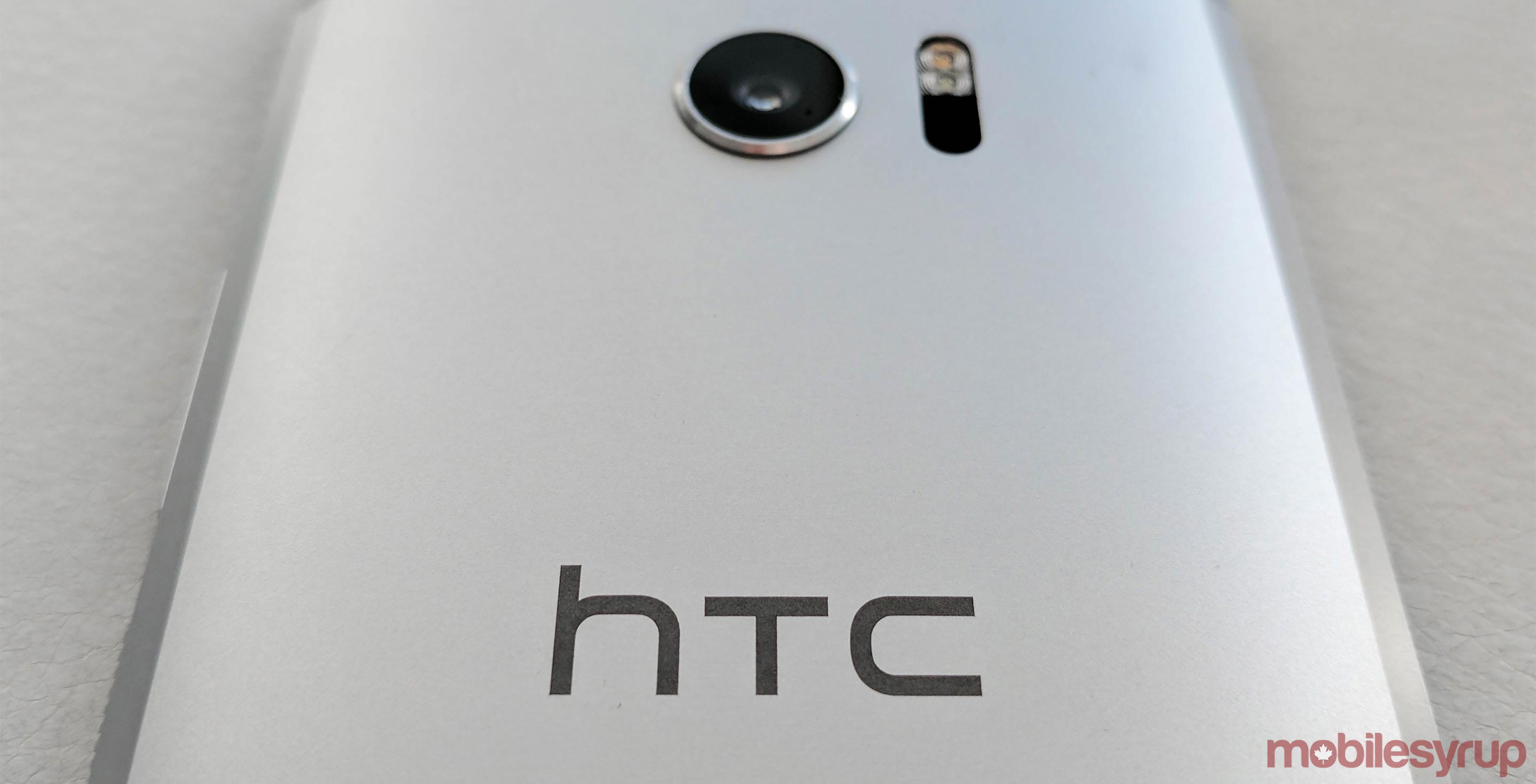 Back of HTC 10 smartphone