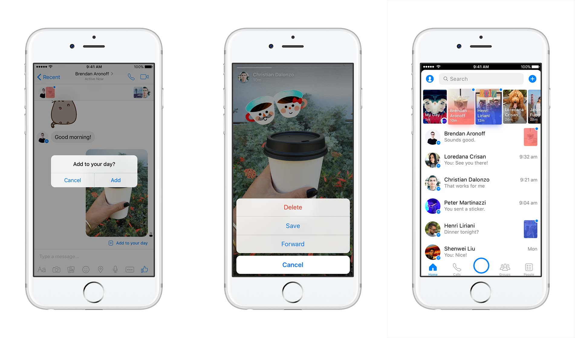 Messenger Day on iOS