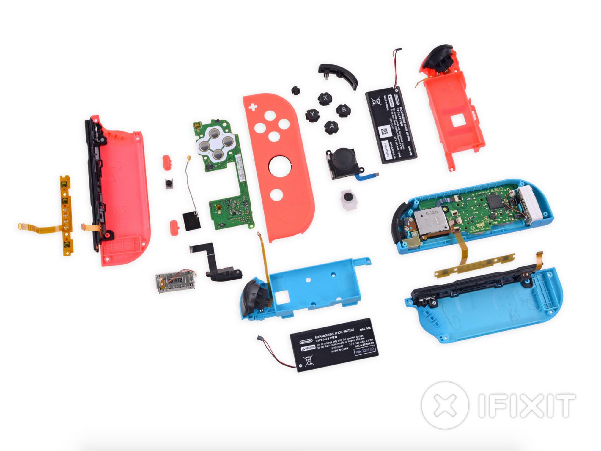 Switch Joy-con controllers disassembled