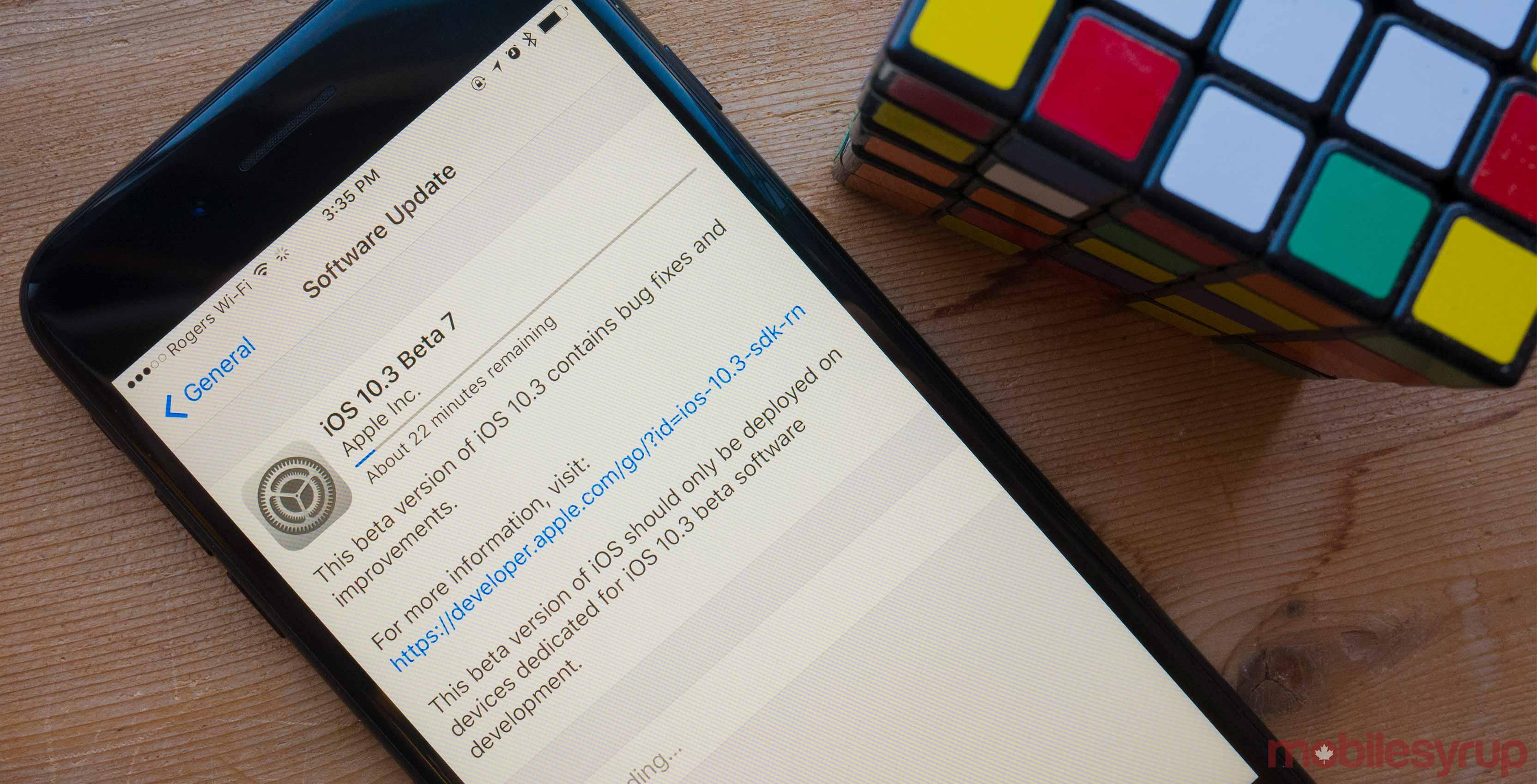 iPhone updating to iOS 10 3 public beta