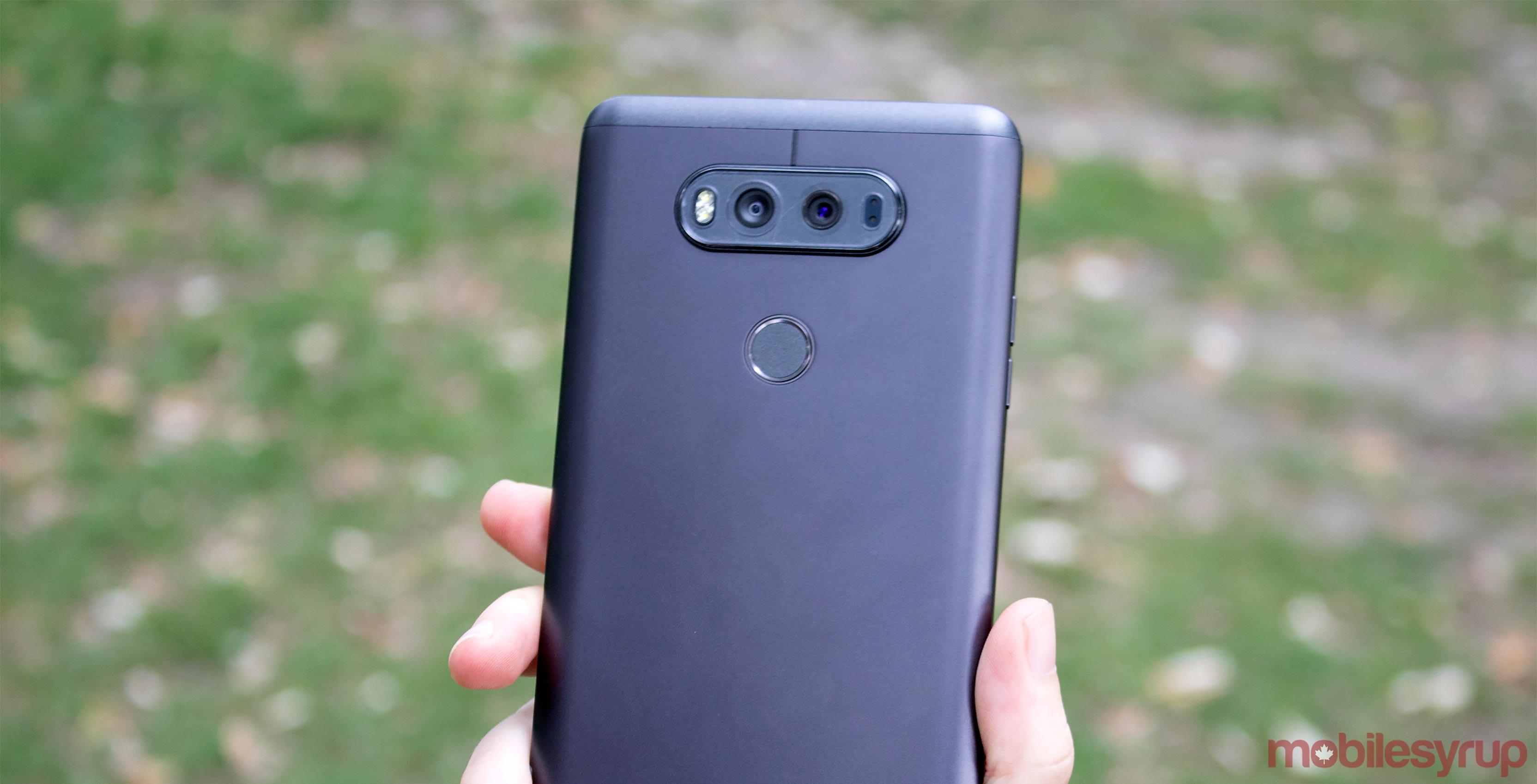 back of LG V20 smartphone - lg v20 rogers bell fido virgin mobile