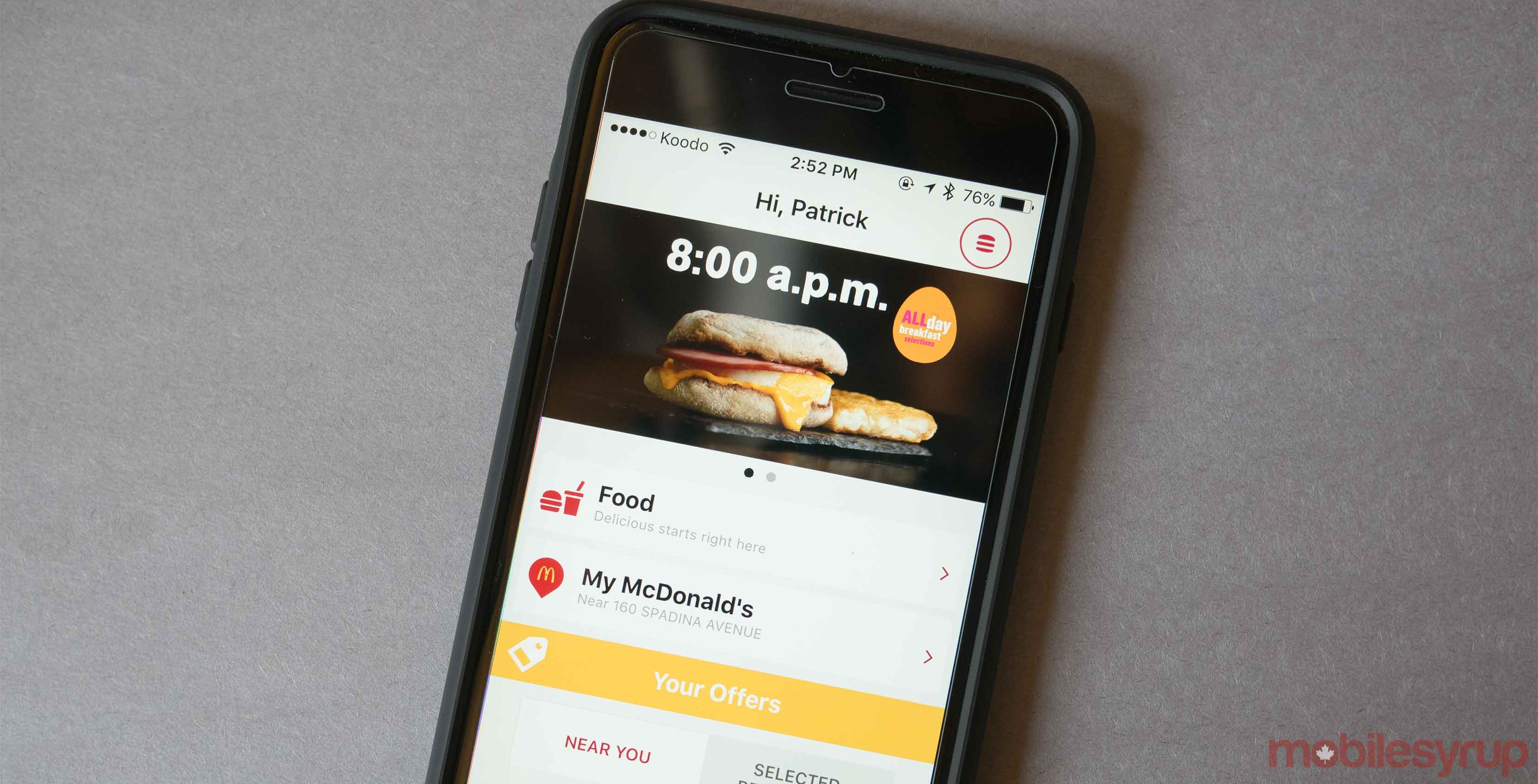 McDonalds mobile app