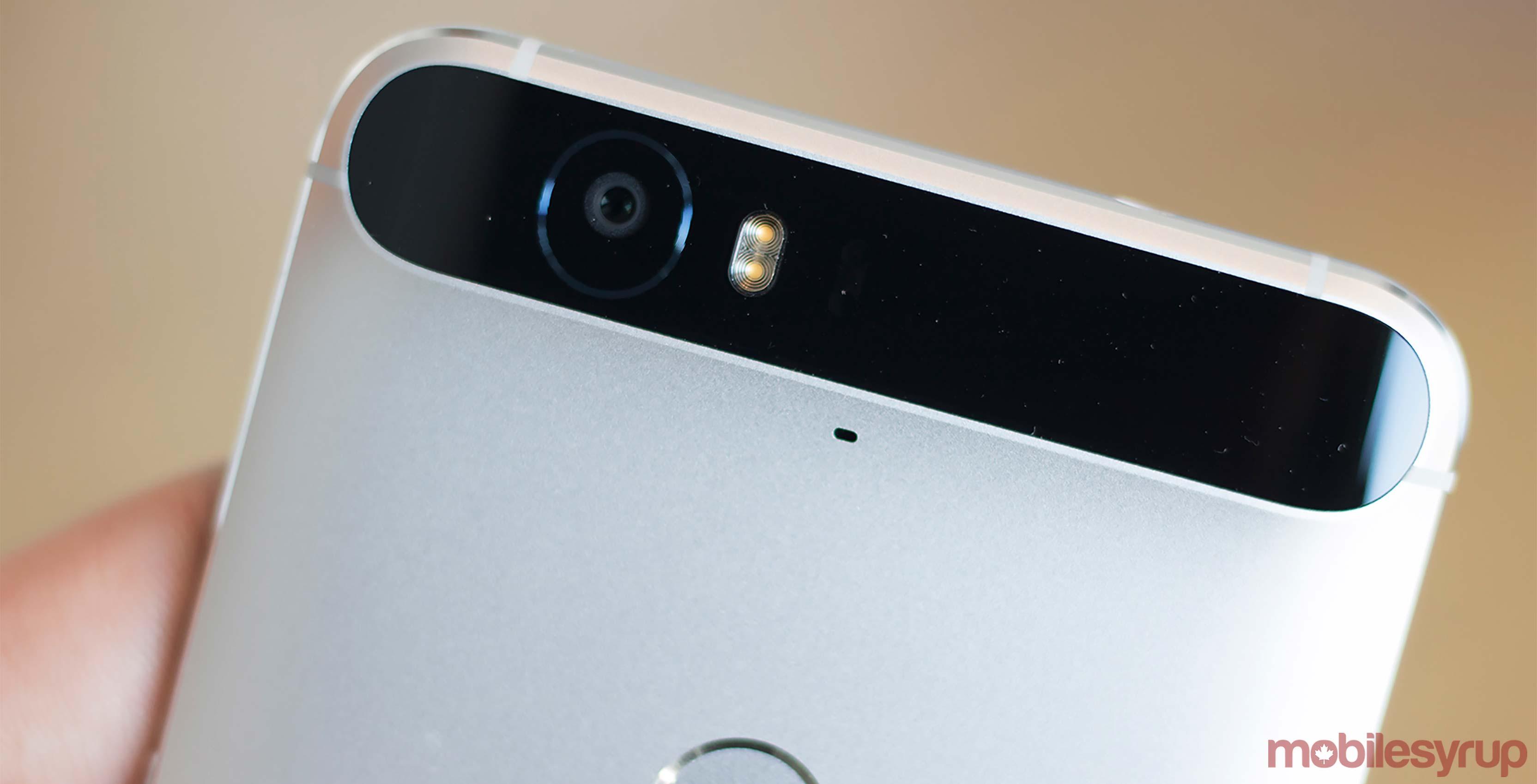 Back of Google Nexus 6P smartphone