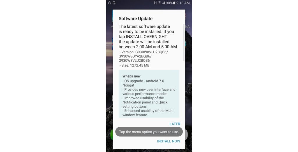 s7 virgin mobile update