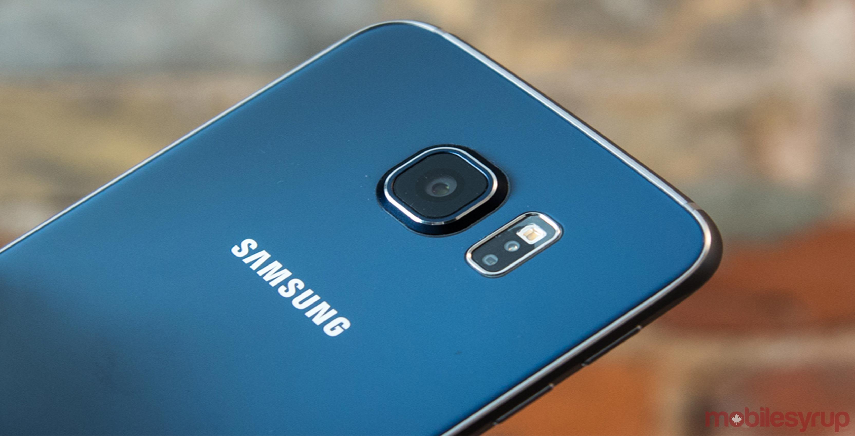 Back of Samsung Galaxy S6 smartphone
