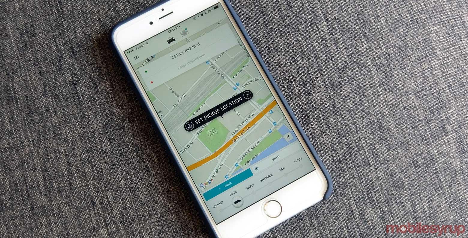 Uber modify pick up location