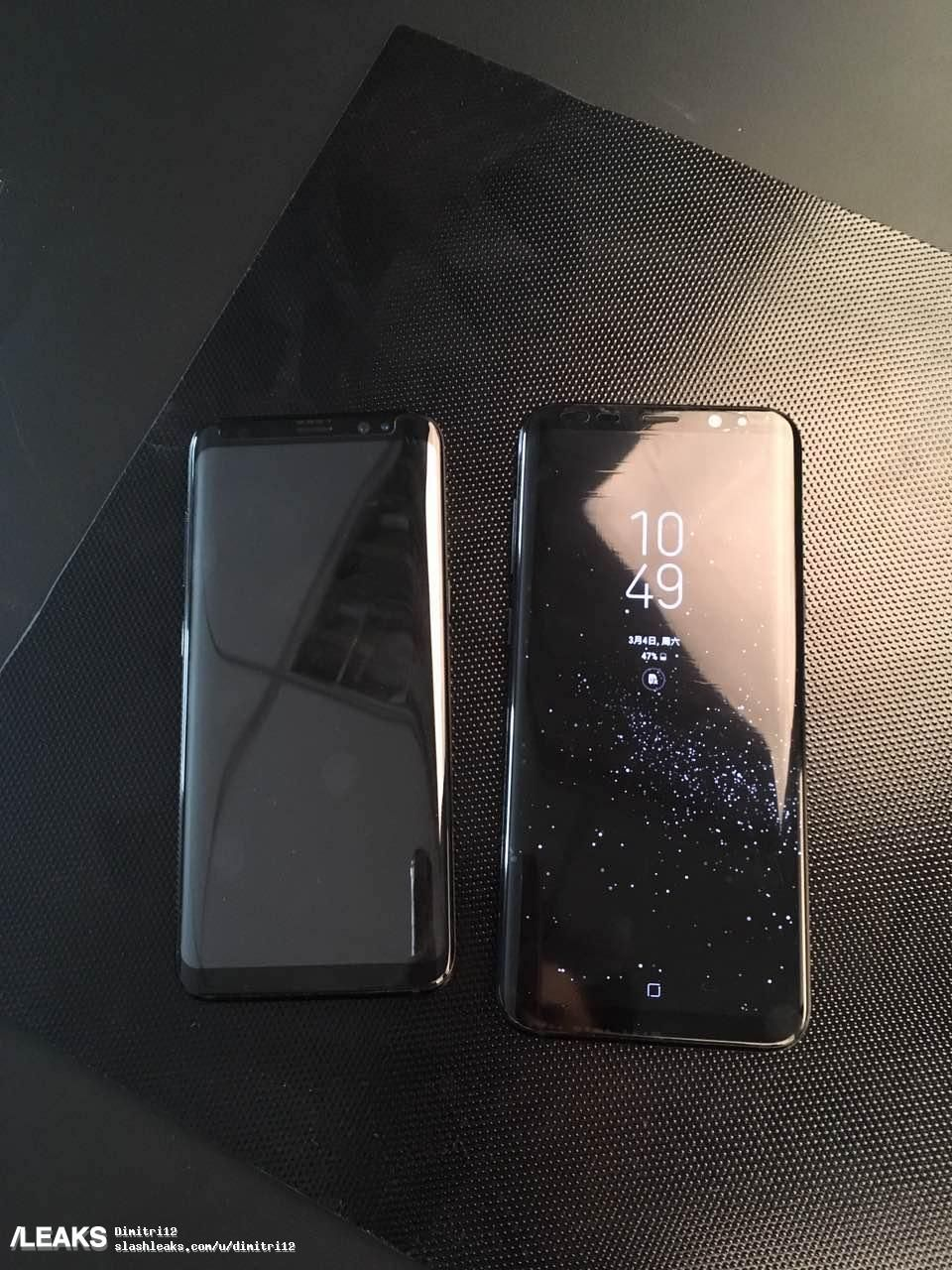 samsung galaxy s8 and s8+ side by side
