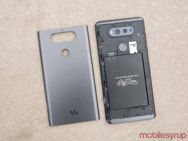 LG v20 front and back