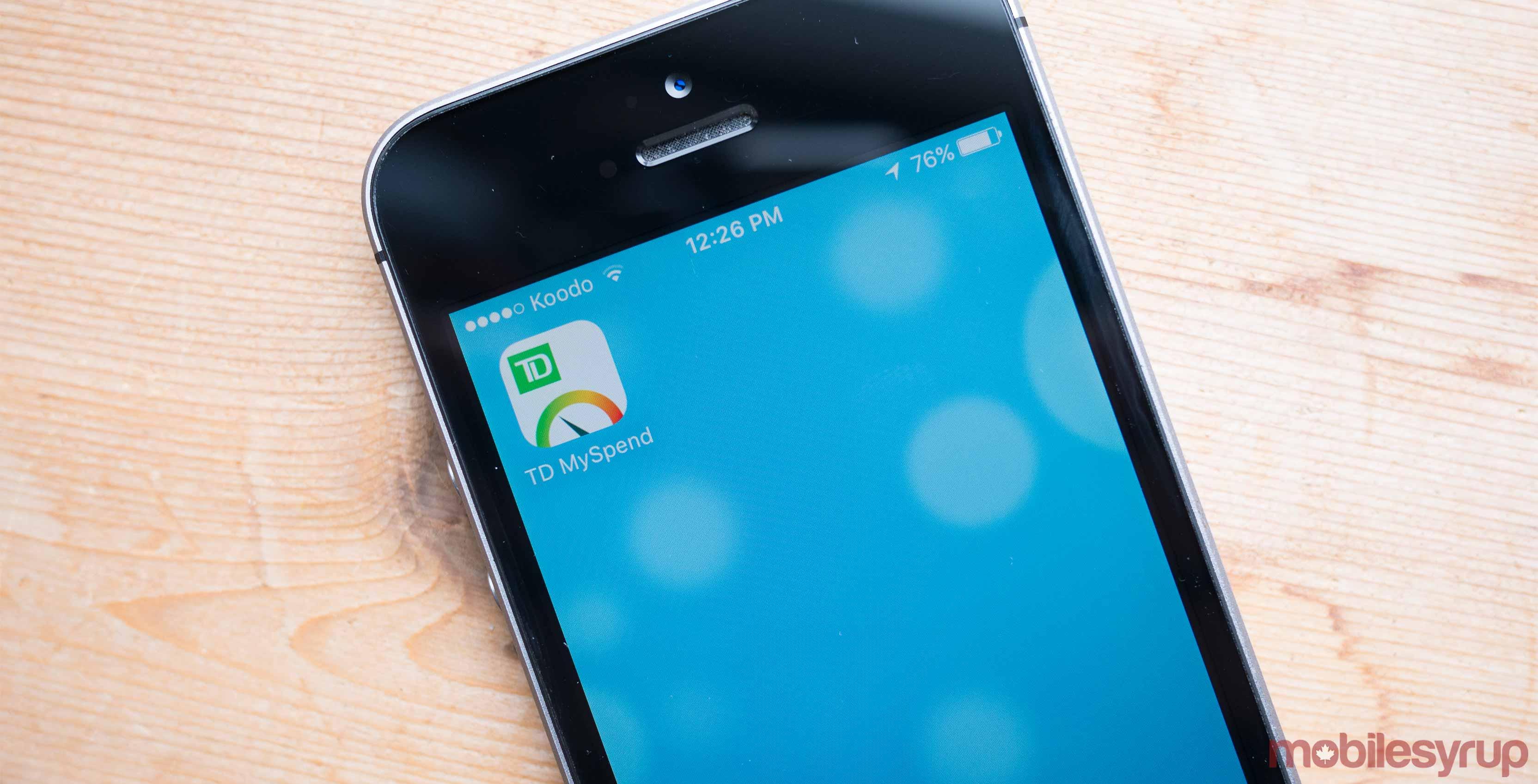 TD app photo