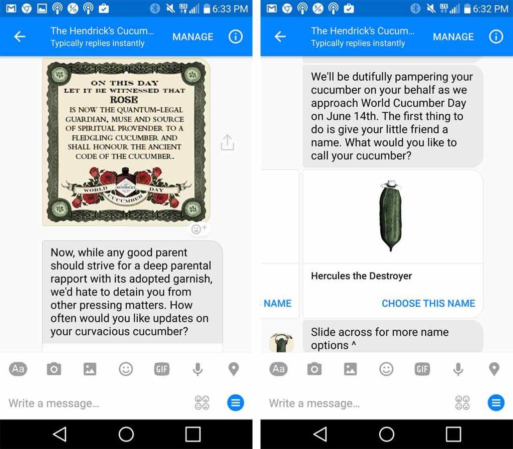 cucumber adoption service bot