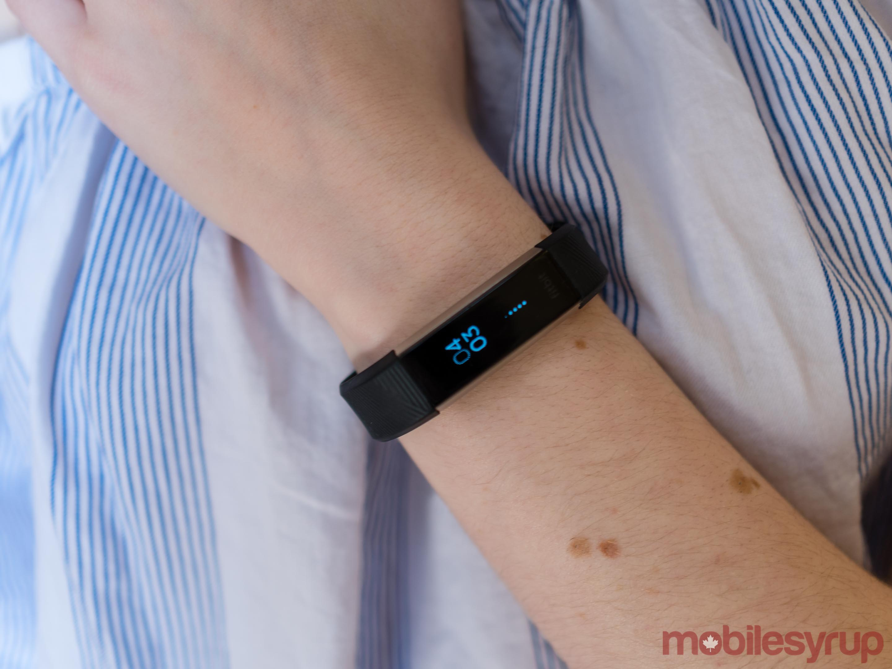Fitbit Alta on arm