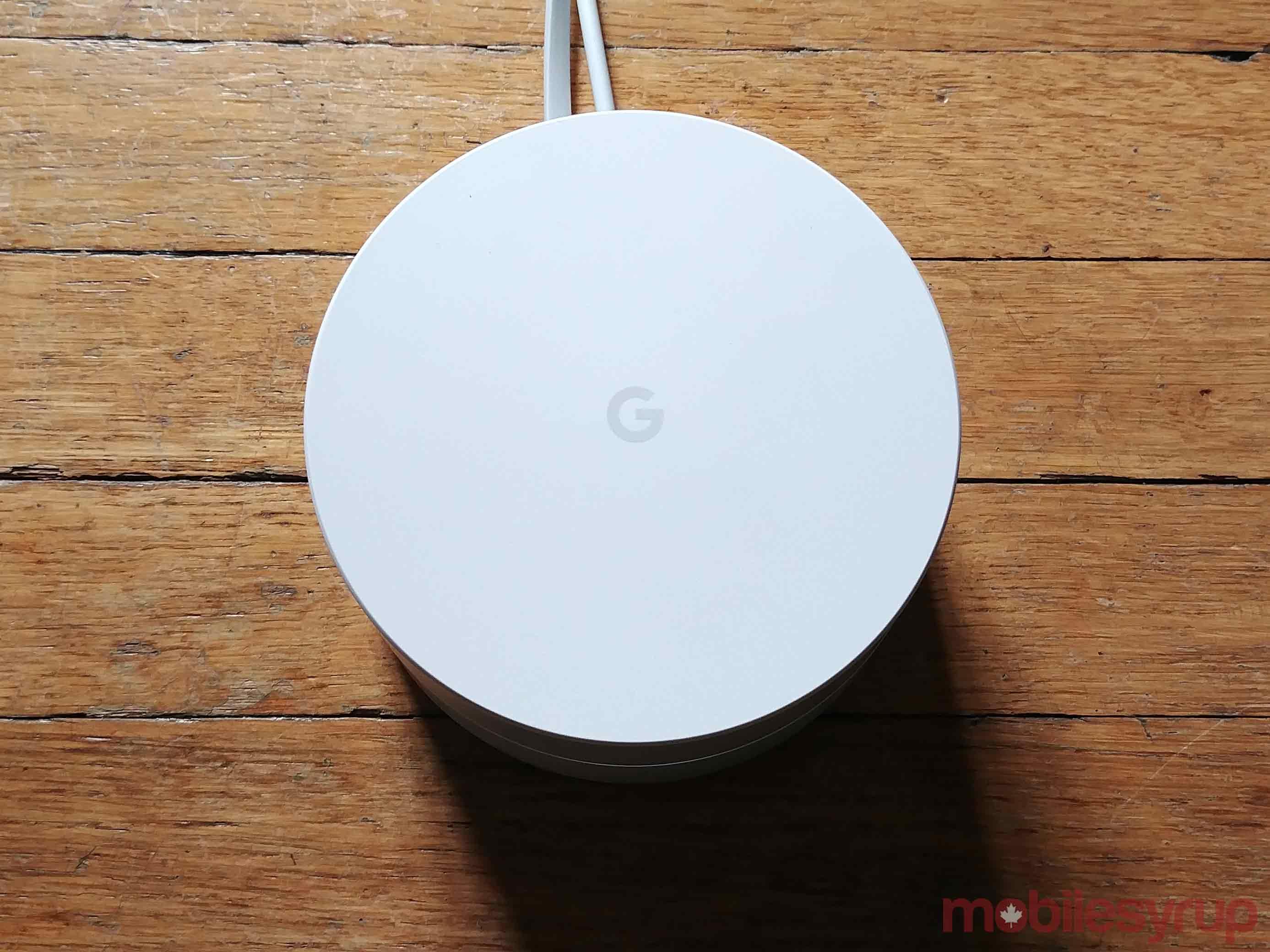 Google wifi on floor