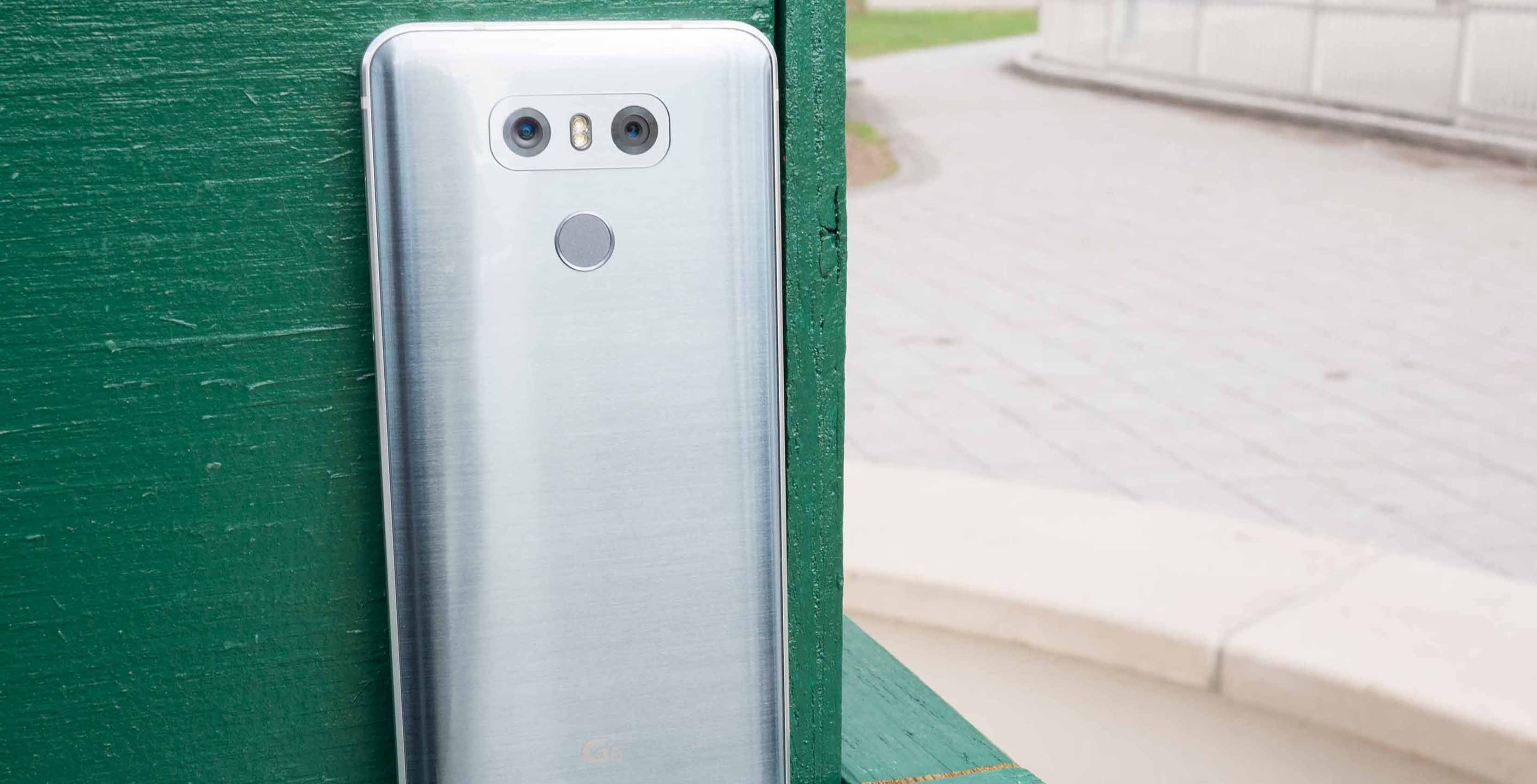 LG G6 against wall