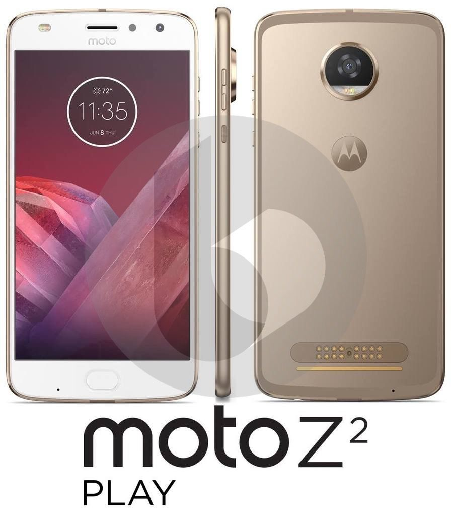 Moto Z2 Play from front side and back