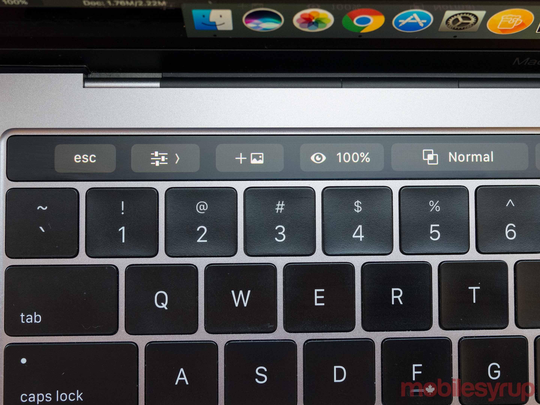 MacBook Pro Touch Bar Adobe Premiere