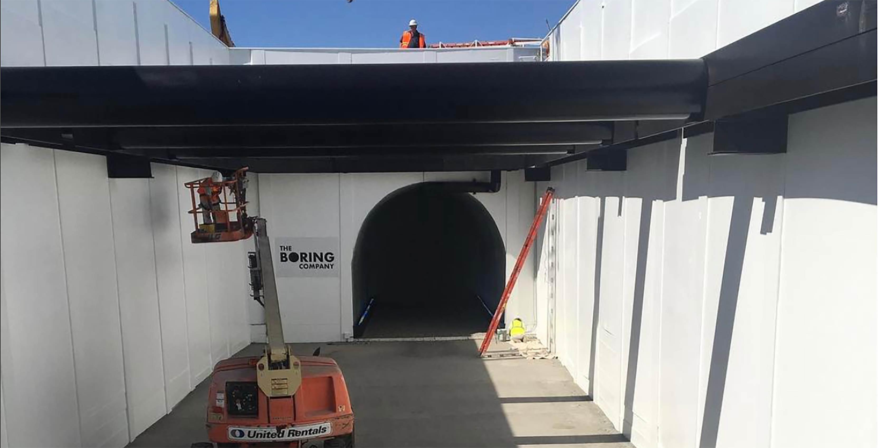 Boring Company tunnel construction