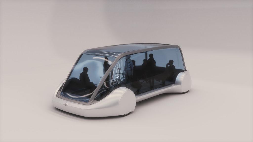Boring Company concept vehicle - side