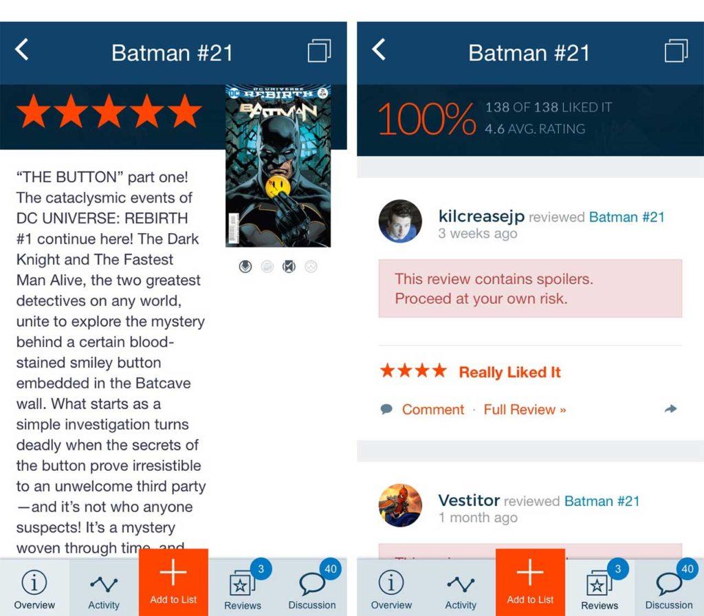 Comic Geeks app Batman 21