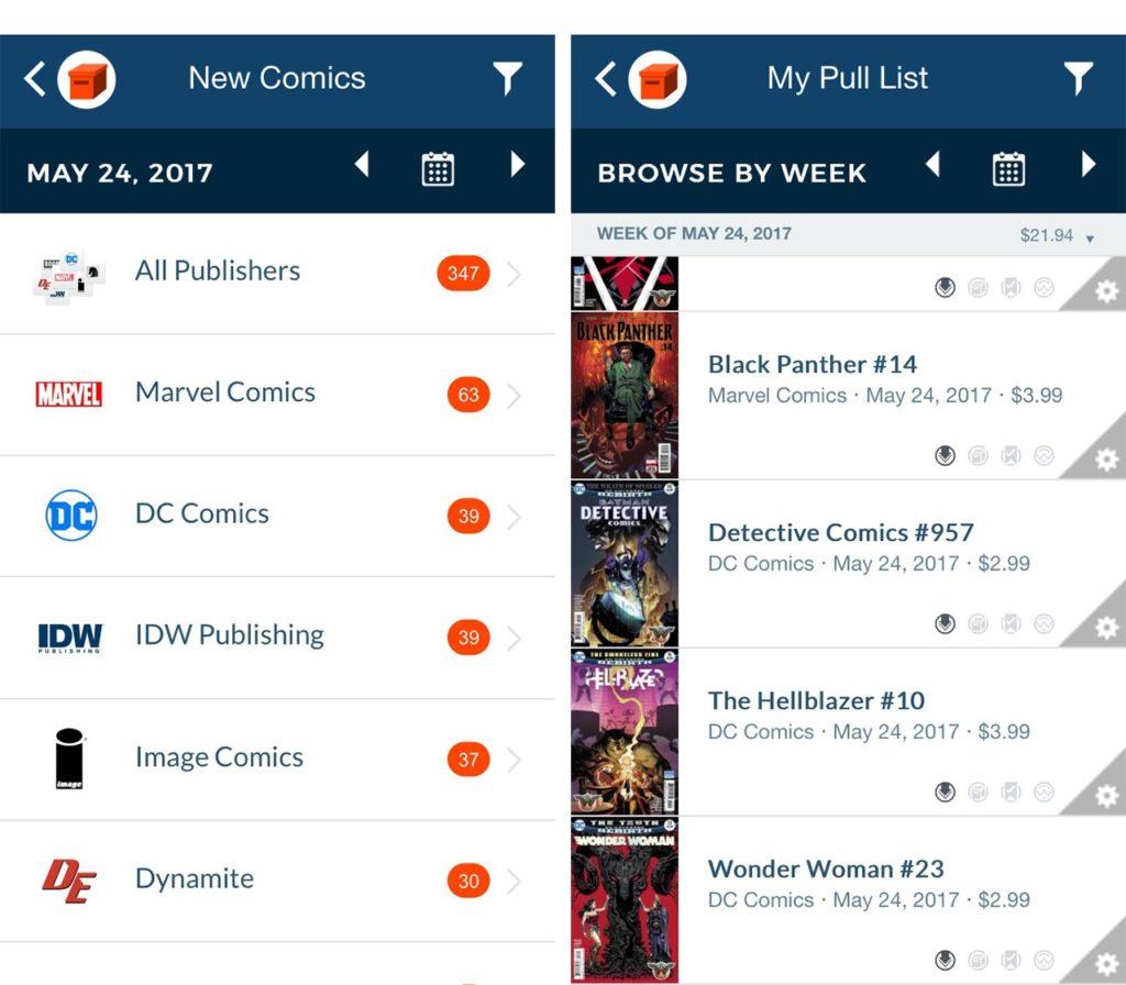 Comic Geeks app Pull-List