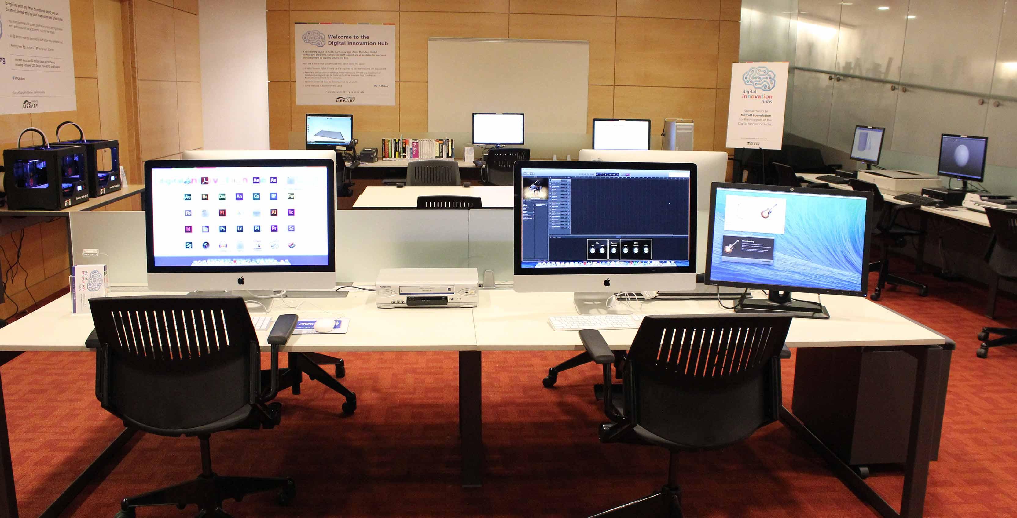 Digital Innovation Hub's Macs at the Toronto Public Library
