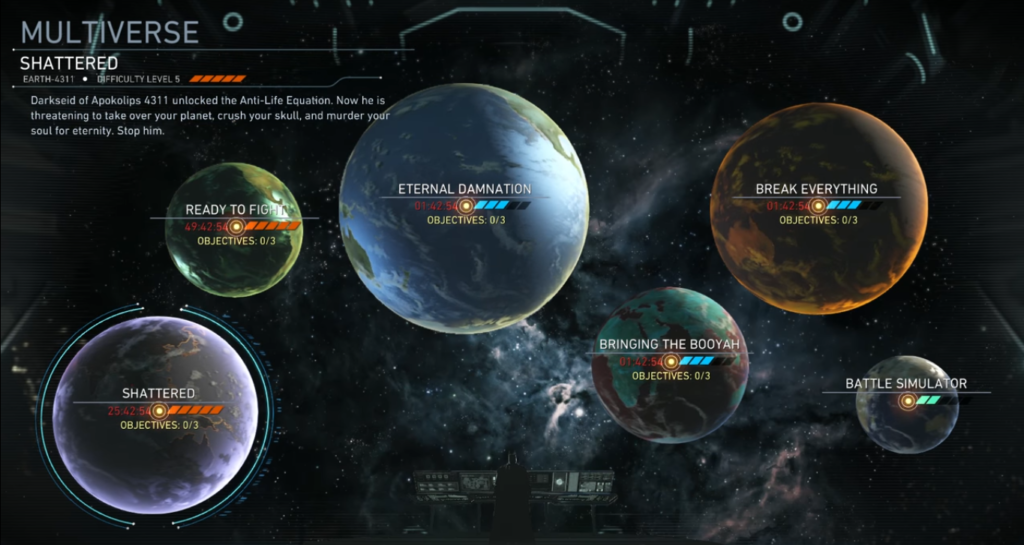 Injustice 2 Multiverse menu