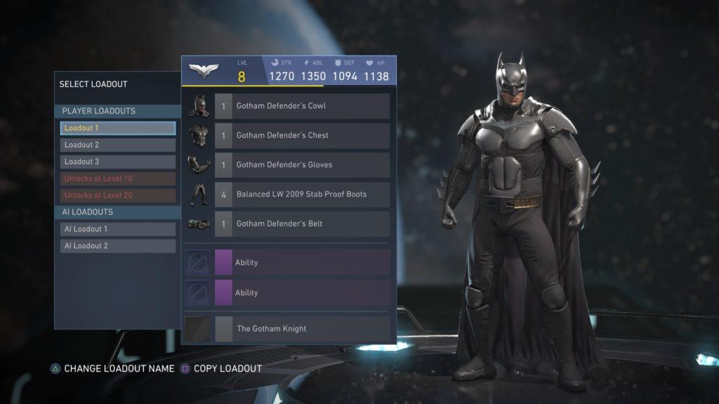 Batman Injustice 2 Gear