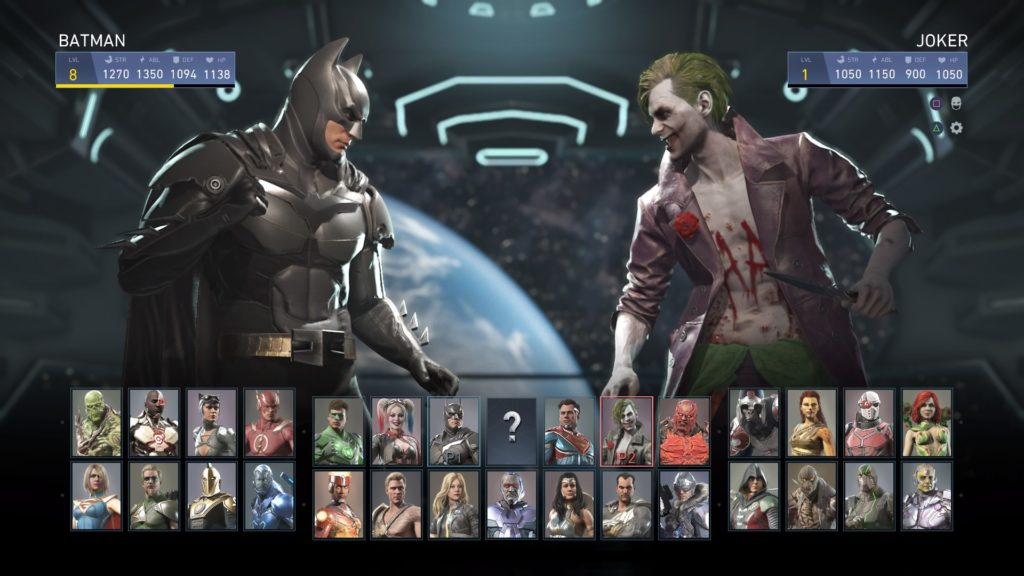 Injustice 2 Batman vs Joker screen