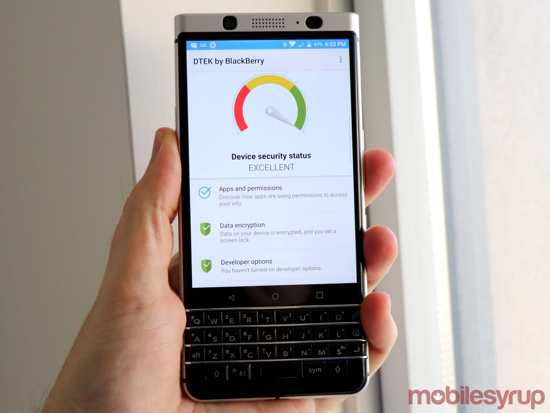 Blackberry keyone dtek app
