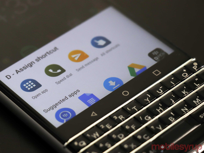 blackberry keyone shortcuts