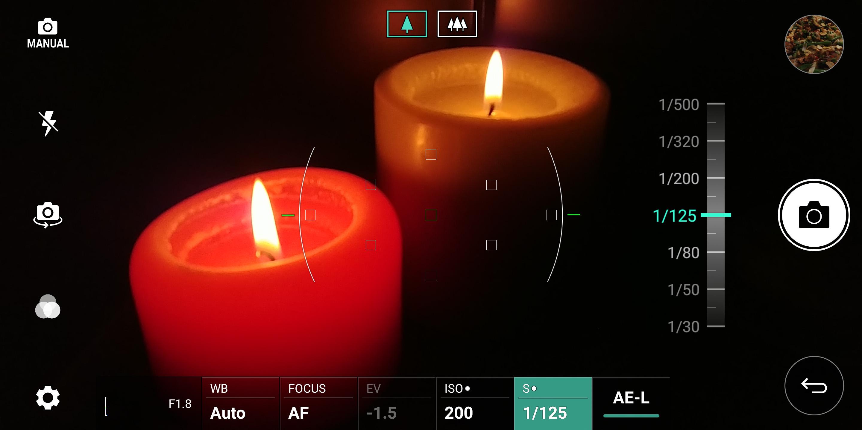 LG G6 manual shooting mode