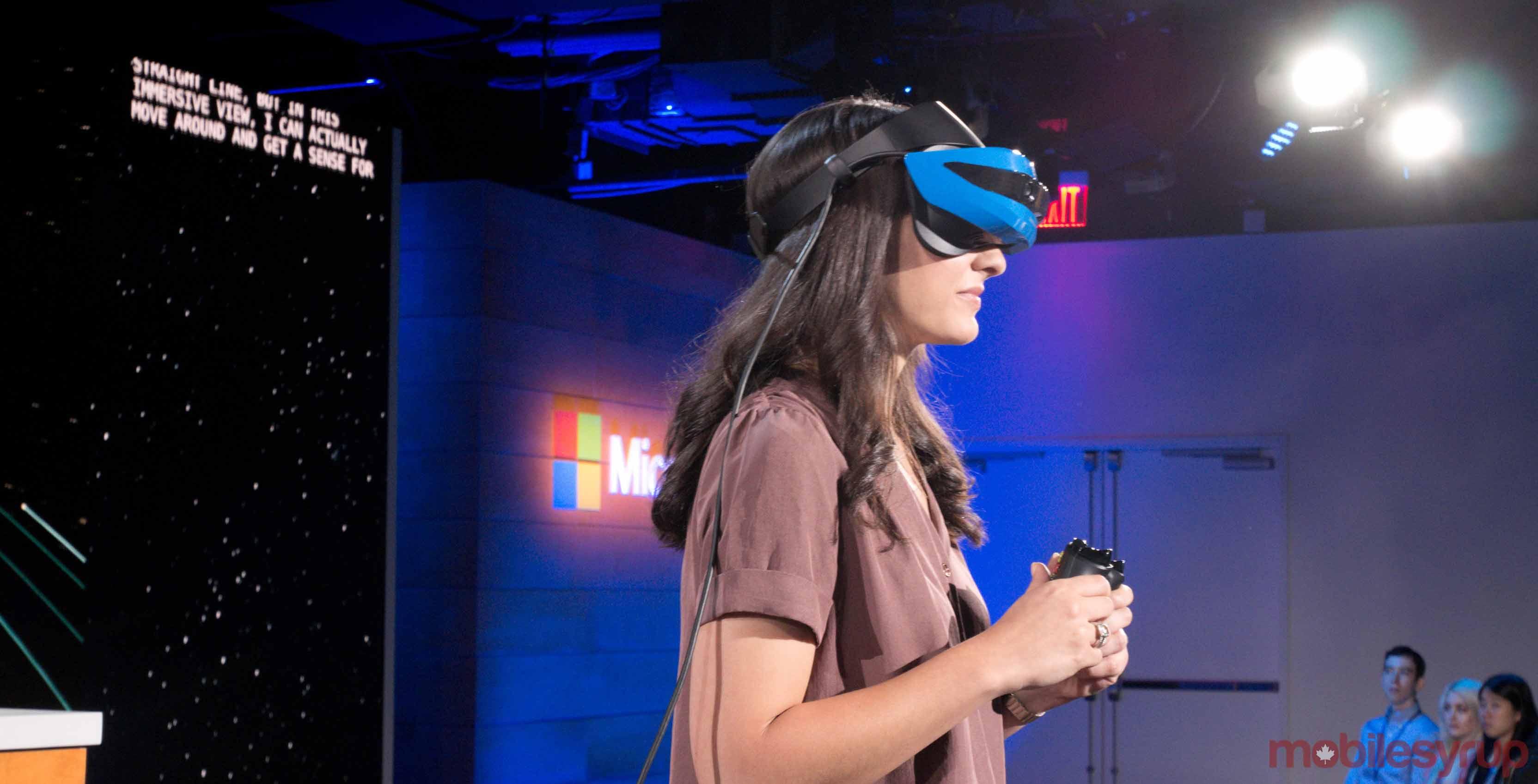 Microsoft augmented reality headset