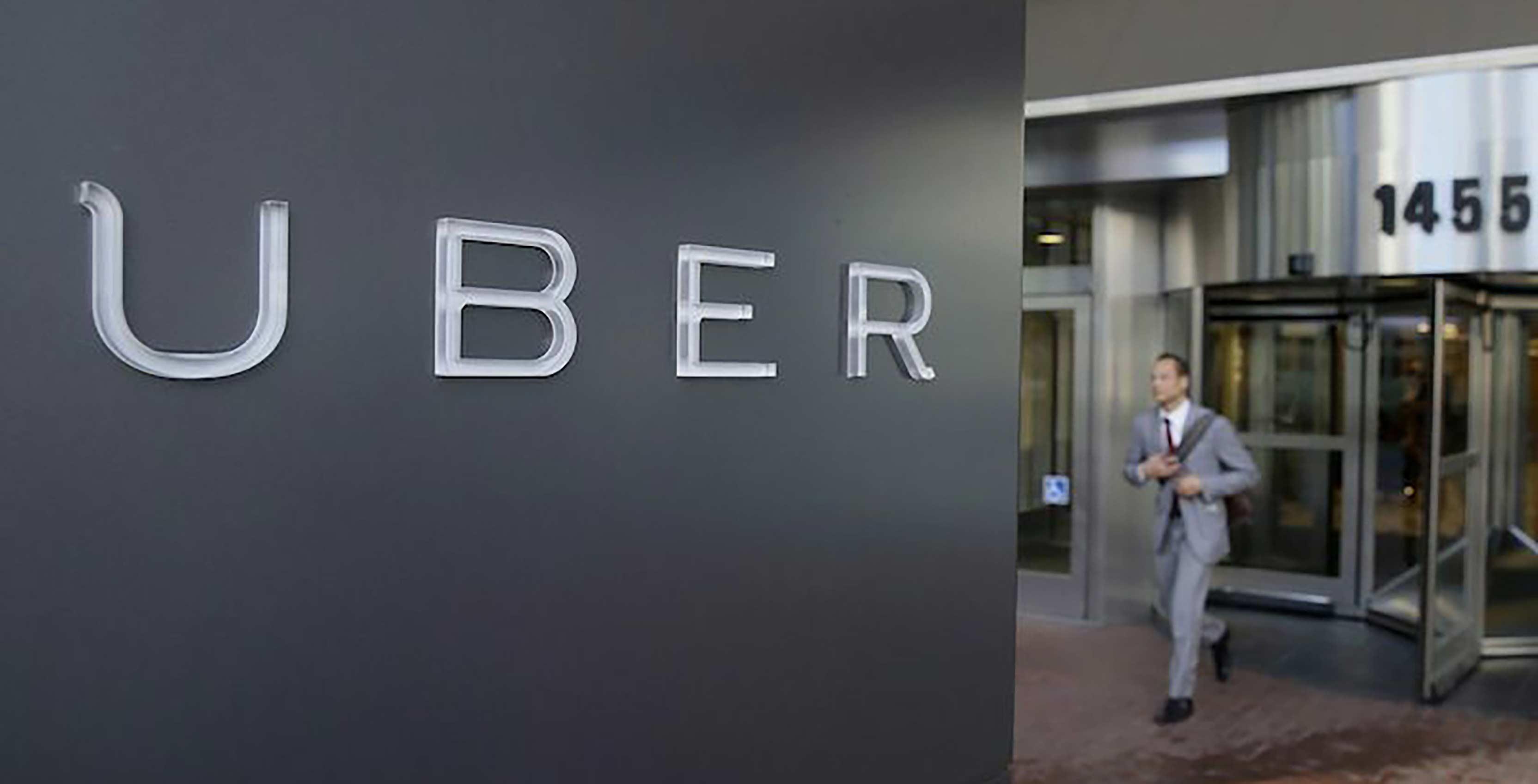 Uber logo with man