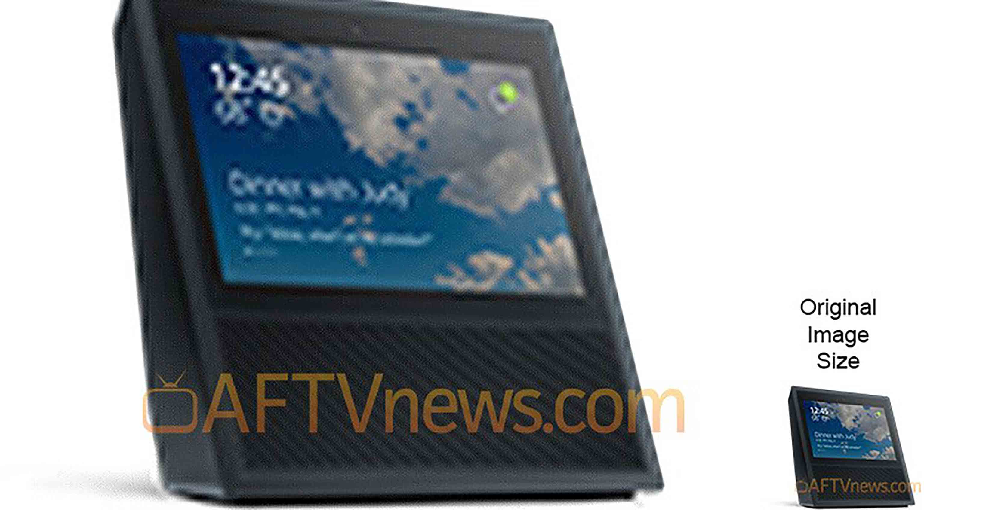 Leaked look at Amazon Echo with touchscreen from Aftvnews