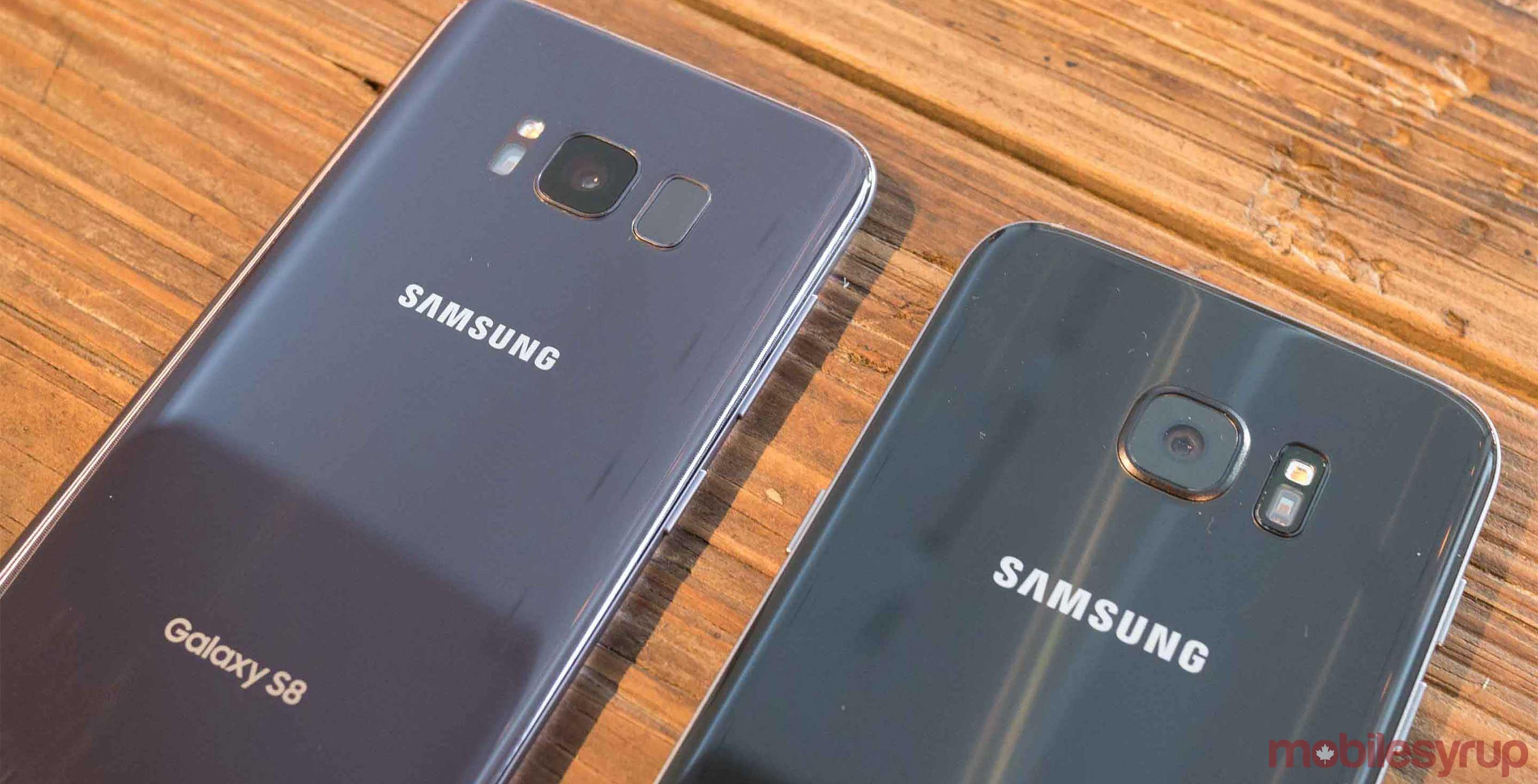 Comparison of Galaxy S8 vs Galaxy S7 smartphones