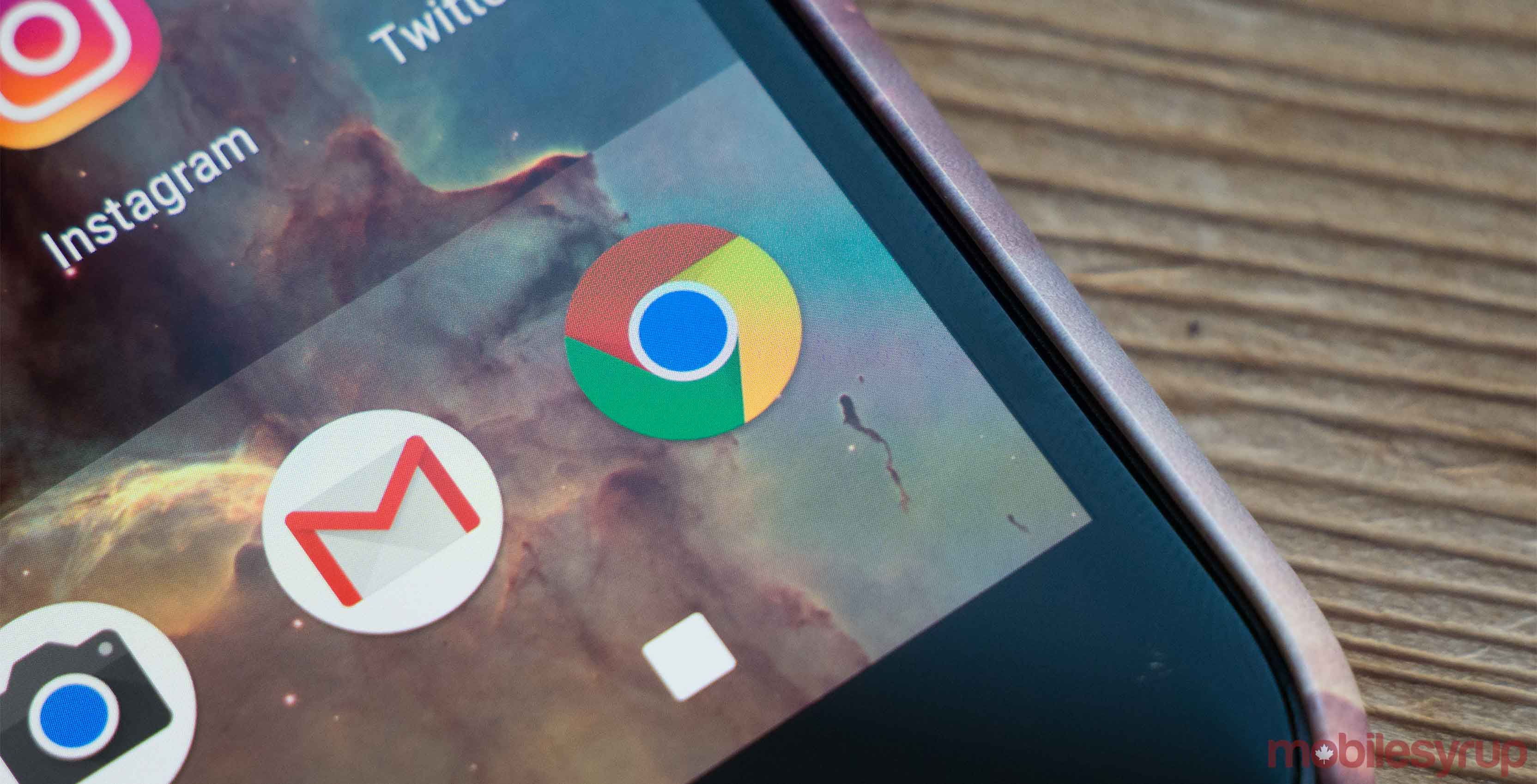Google Chrome and G-mail app