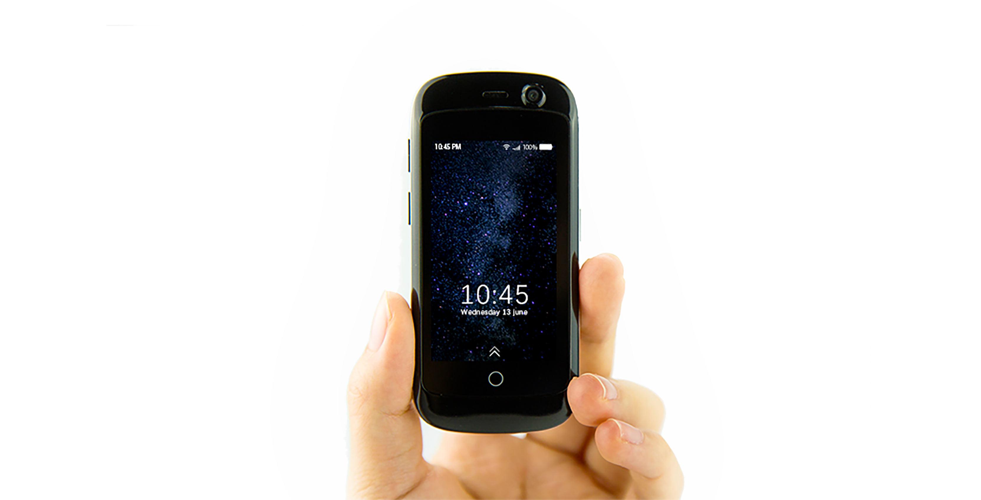 Jelly mini smartphone in hand