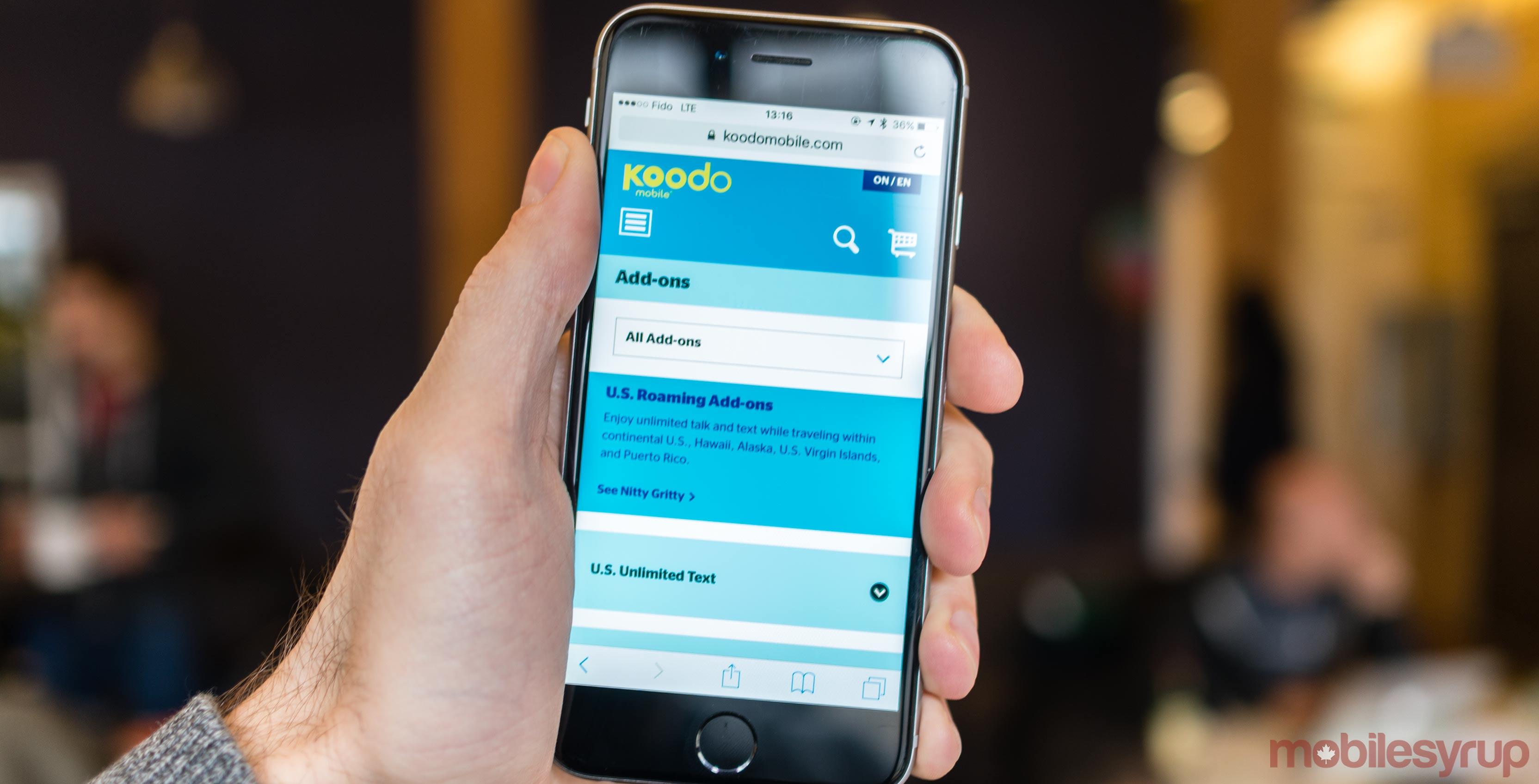 Koodo Mobile website