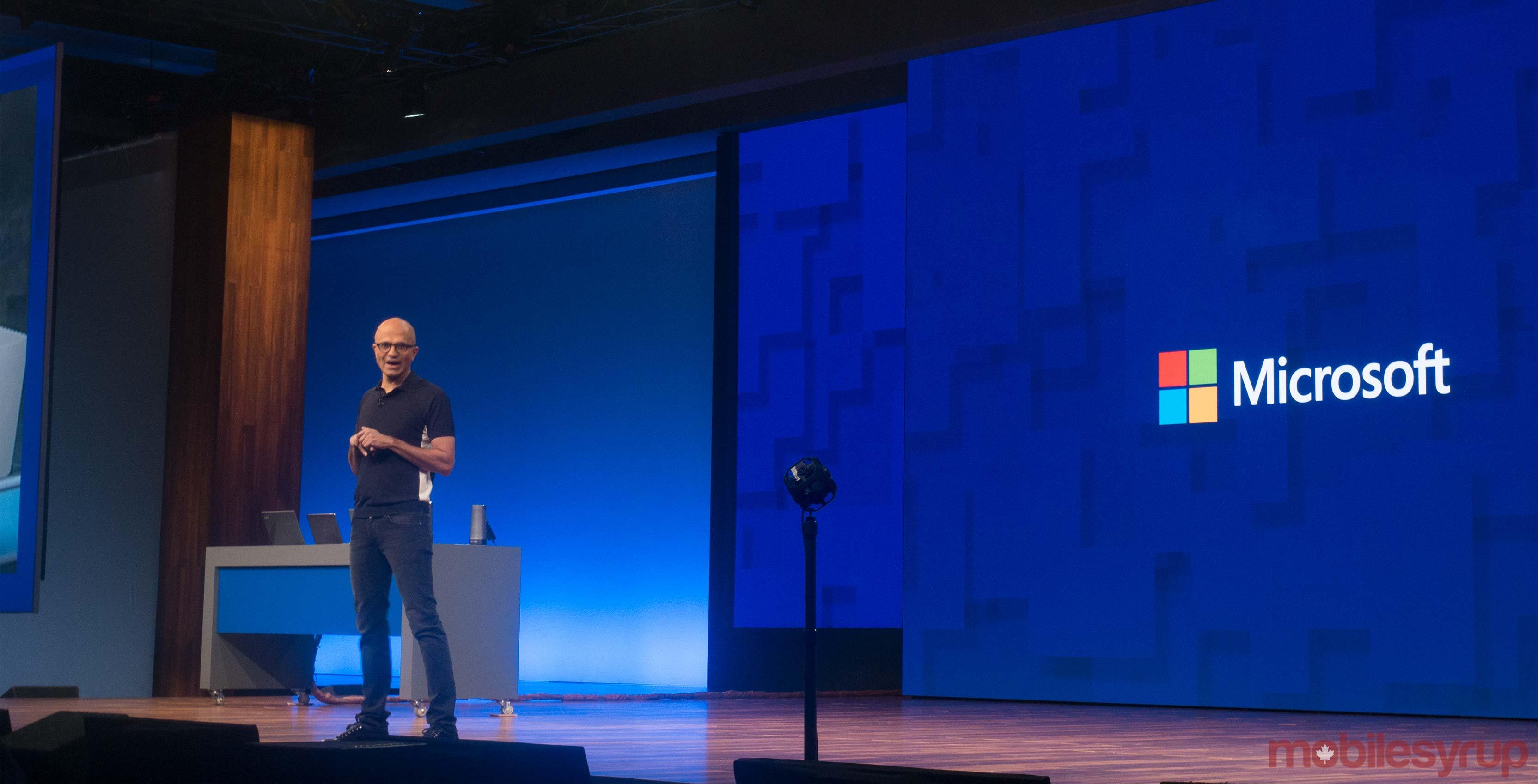 Satya Nadella at Microsoft Build